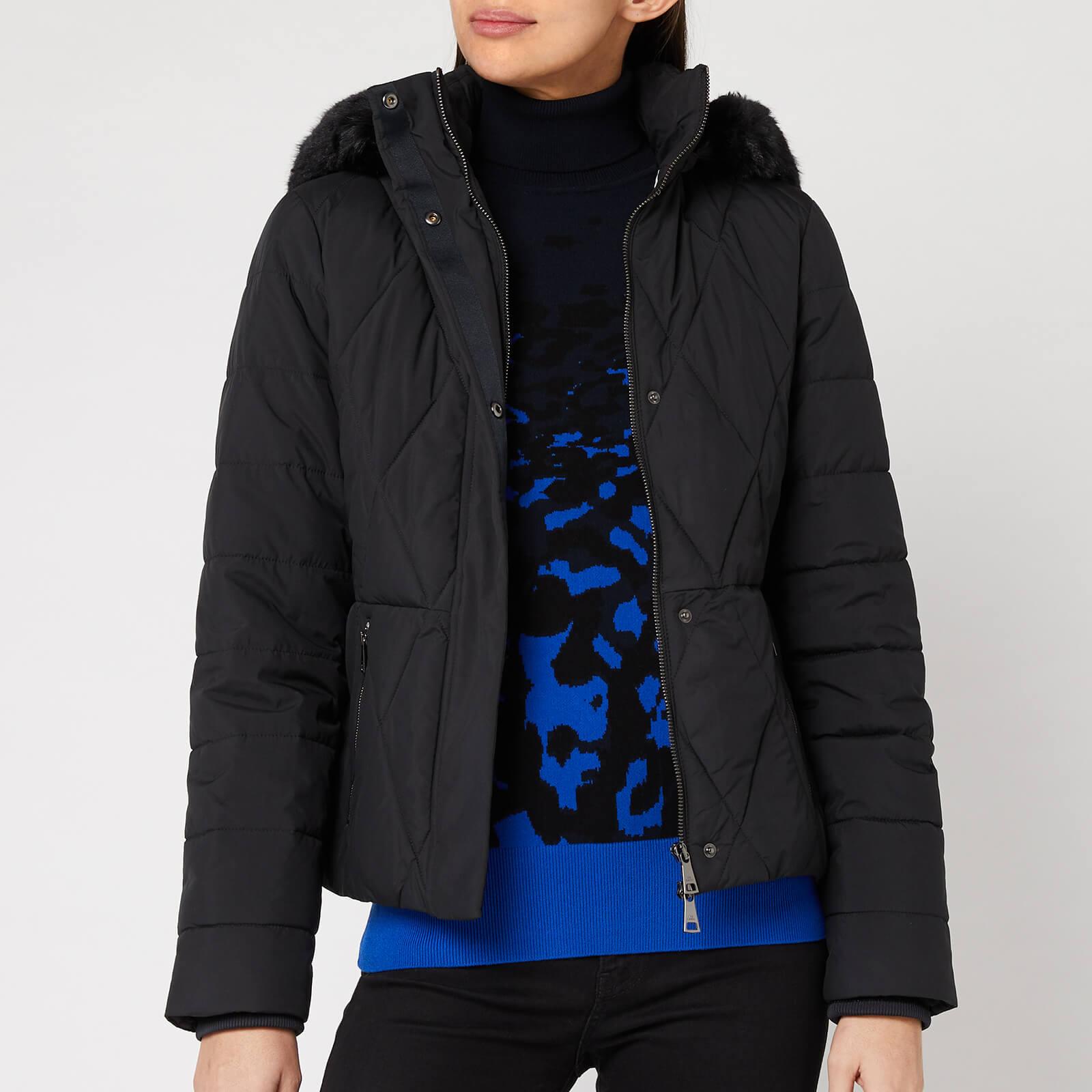 Ted Baker Women's Erikaa Short Faux Fur Hood Down Jacket - Black - 1/UK 8