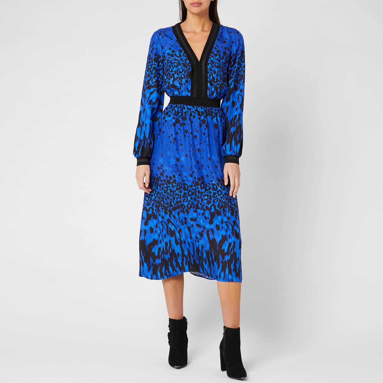Ted Baker Women's Maryema Quartz Printed Long Sleeve Midi Dress - Blue - 4/UK 14
