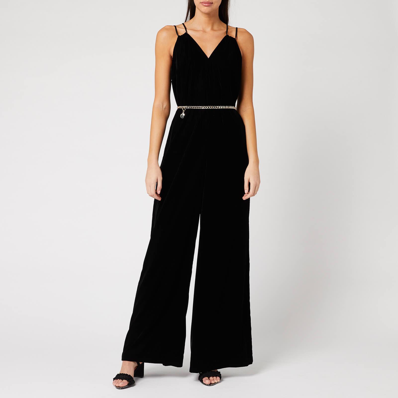 Ted Baker Women's Nellieh Wide Leg Velvet Jumpsuit - Black - 2/UK 10