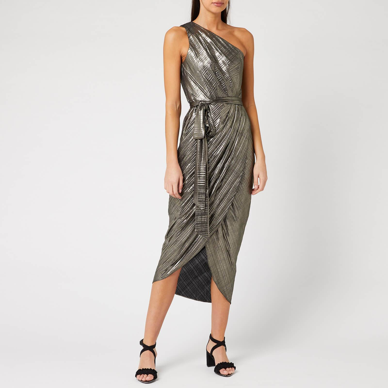 Ted Baker Women's Gabria One Shoulder Drape Midi Dress - Gold - 2/UK 10