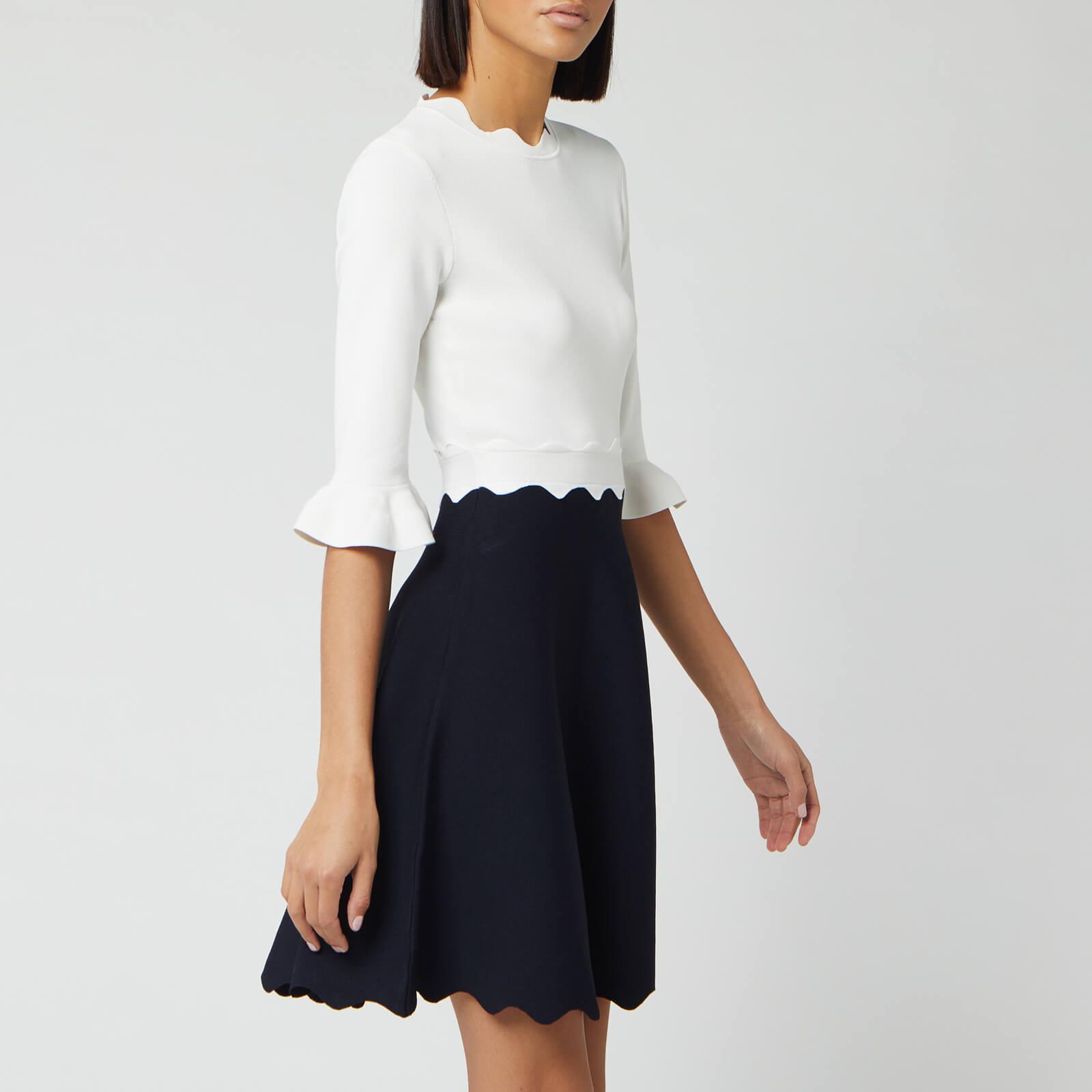 Ted Baker Women's Lauron Sleeve Detail Knitted Skater Dress - Dark Blue - UK 10