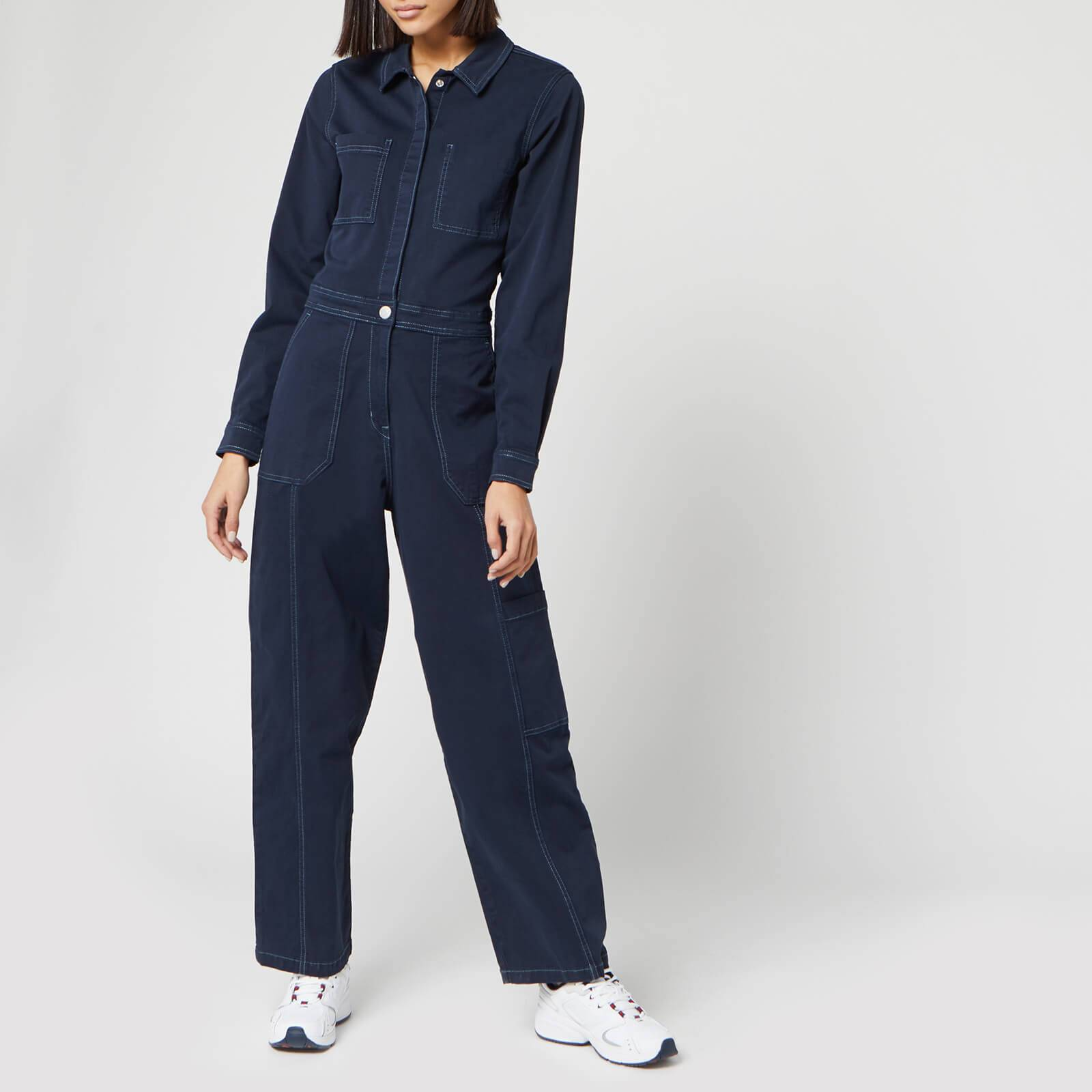 Tommy Jeans Women's Regular Jumpsuit - Black Iris - L
