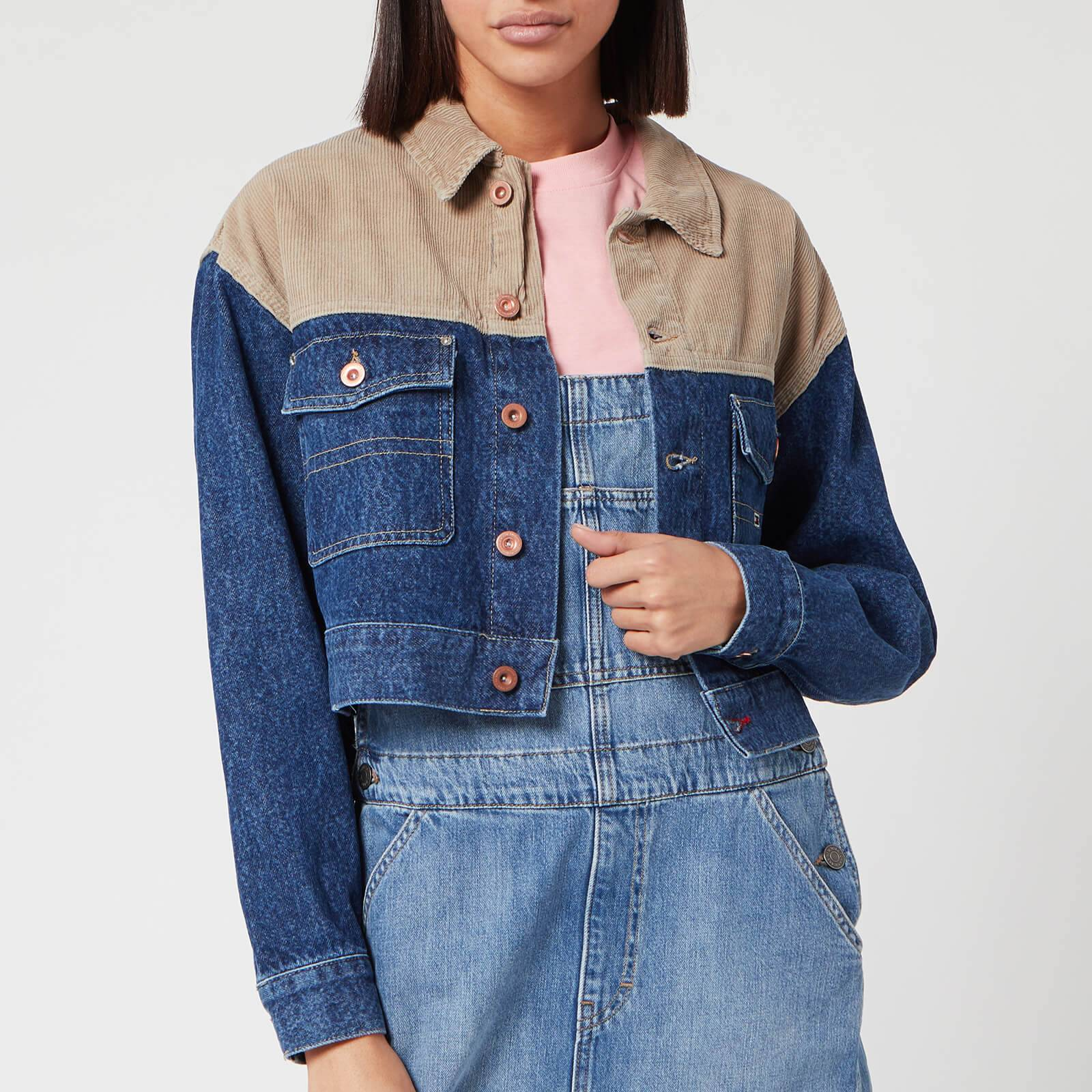 Tommy Jeans Women's Cropped Trucker Jacket - New Care Mix Rig - L