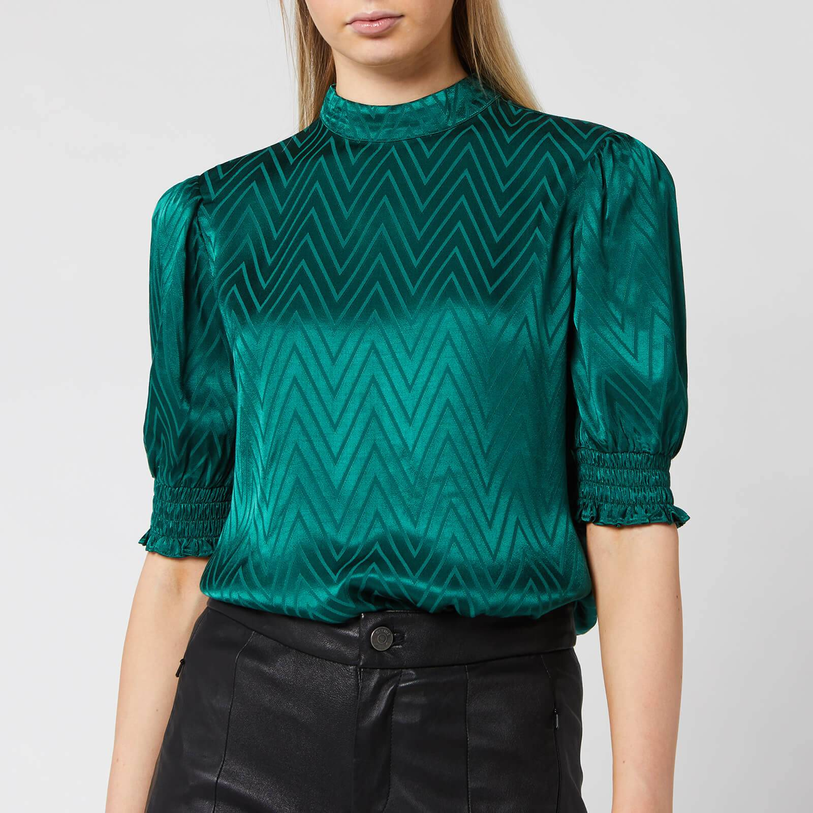 Ted Baker Women's Tiarie Bluson Puff Sleeve Top - Green - UK 14