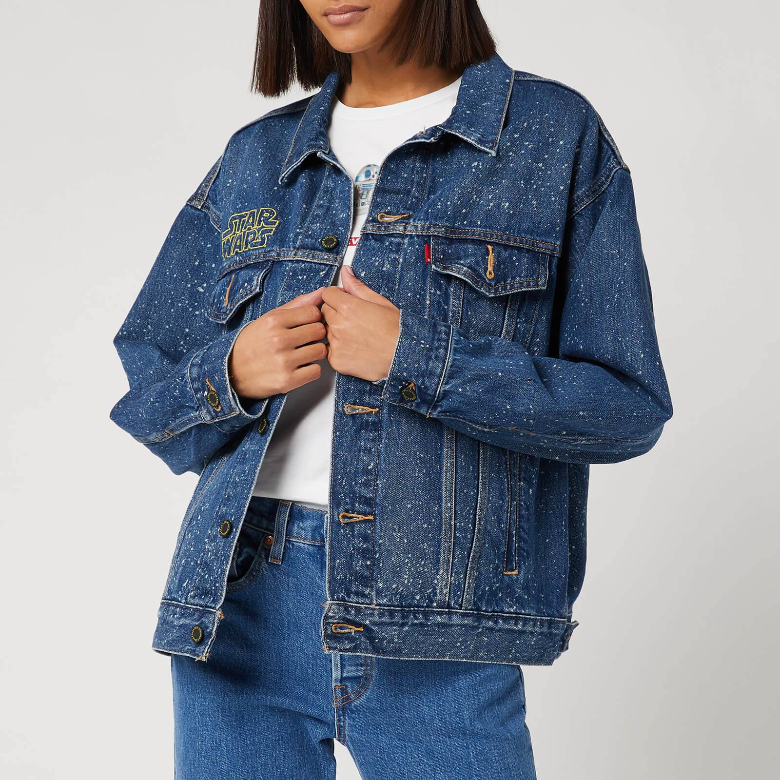 Levi's Star Wars Women's Dad Trucker Jacket - May The Force Be with You - XS