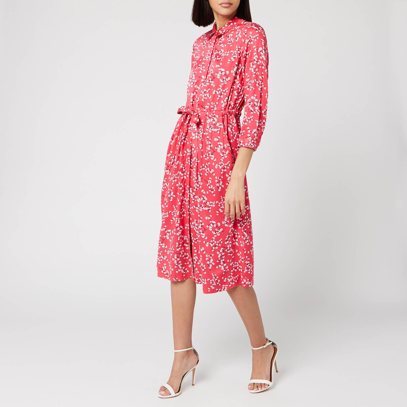 Joules Women's Winslet Long Sleeve Dress - Red Ditsy - UK 10