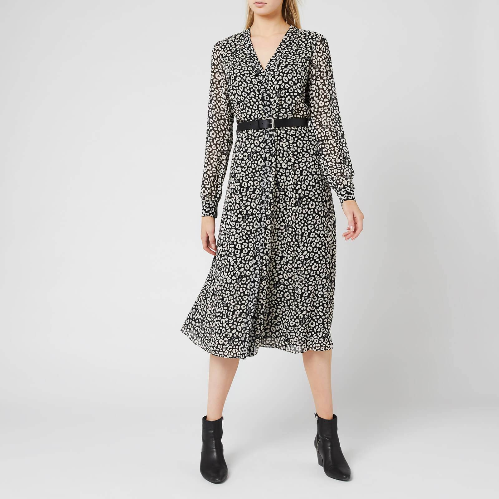 MICHAEL MICHAEL KORS Women's Shirt Dress - Black/Bone - S