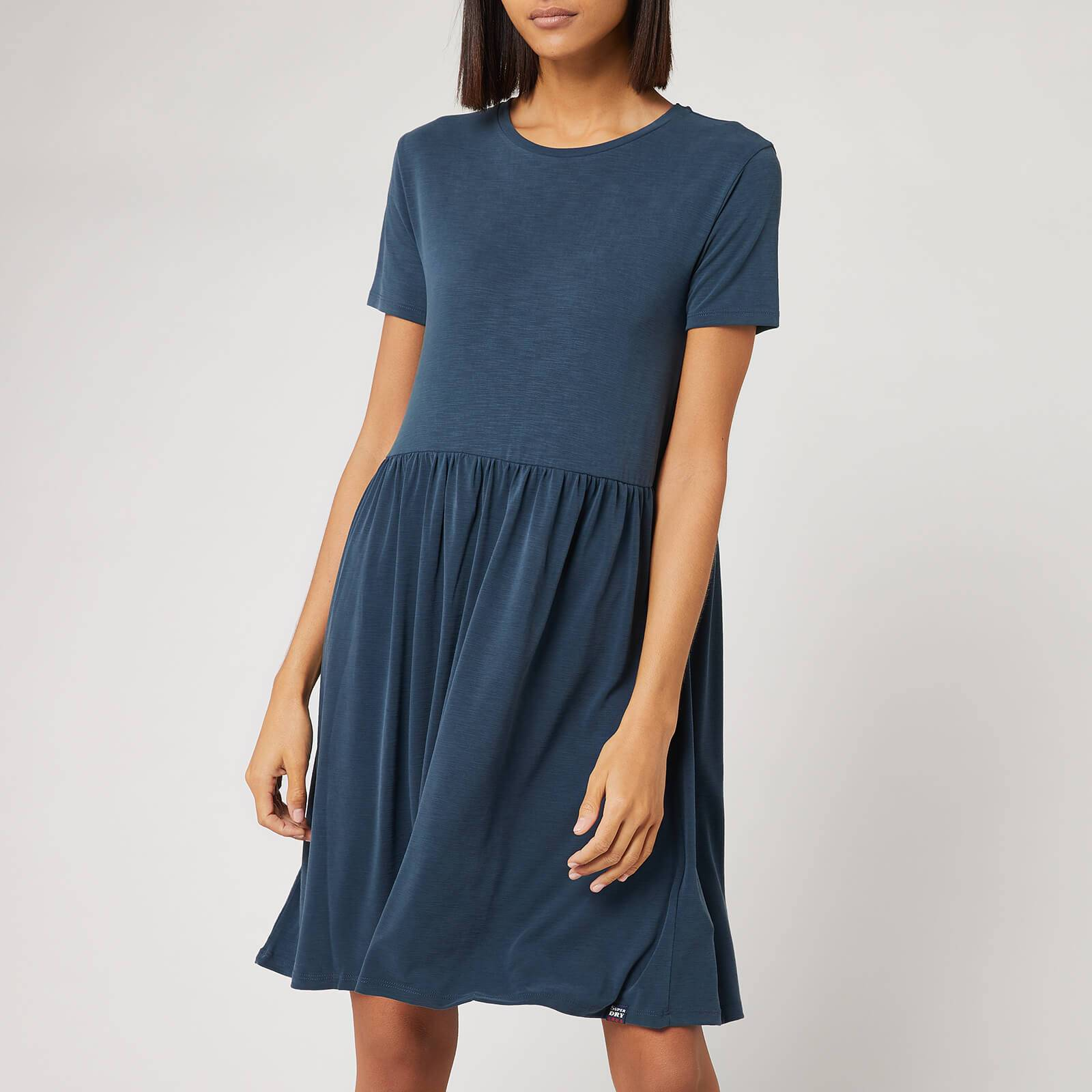 Superdry Women's Smocked T-Shirt Dress - Beechwater Blue - UK 10