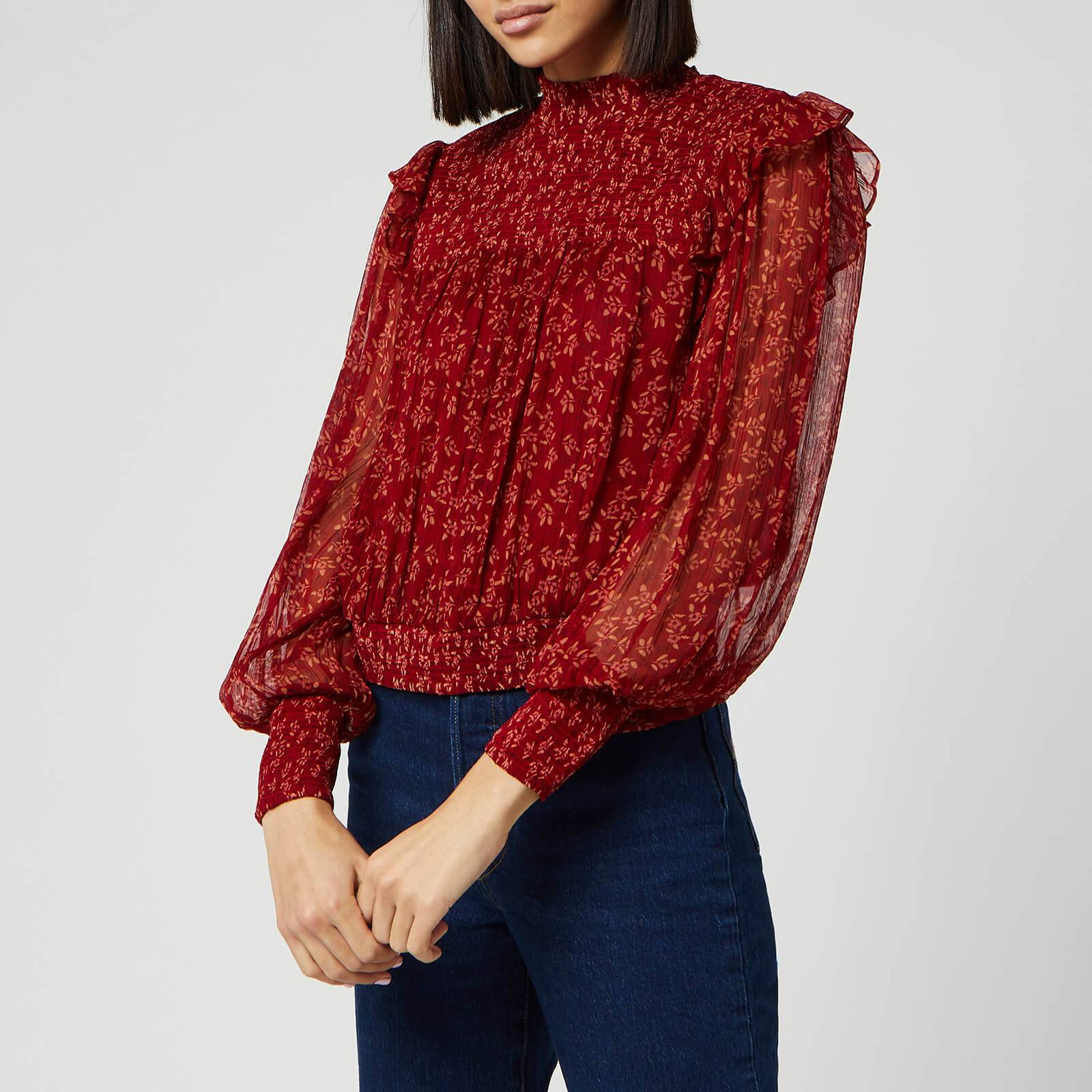 Free People Women's Roma Blouse - Red - L