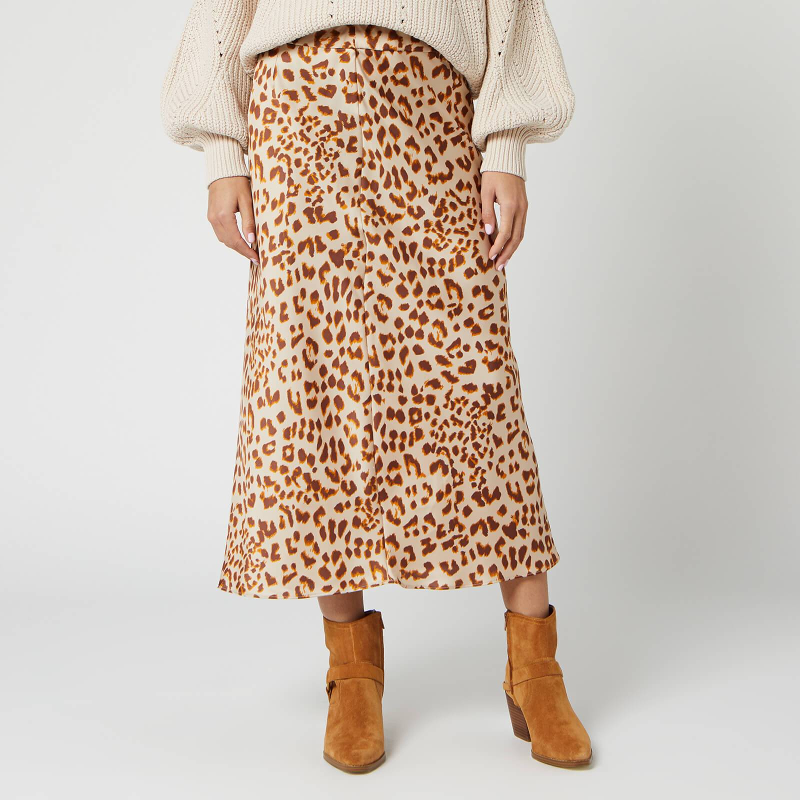Free People Women's Normani Bias Skirt - Brown Leopard - US 4/UK 8