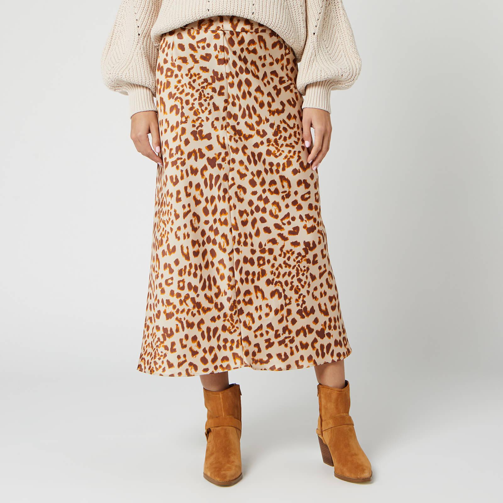 Free People Women's Normani Bias Skirt - Brown Leopard - US 8/UK 12