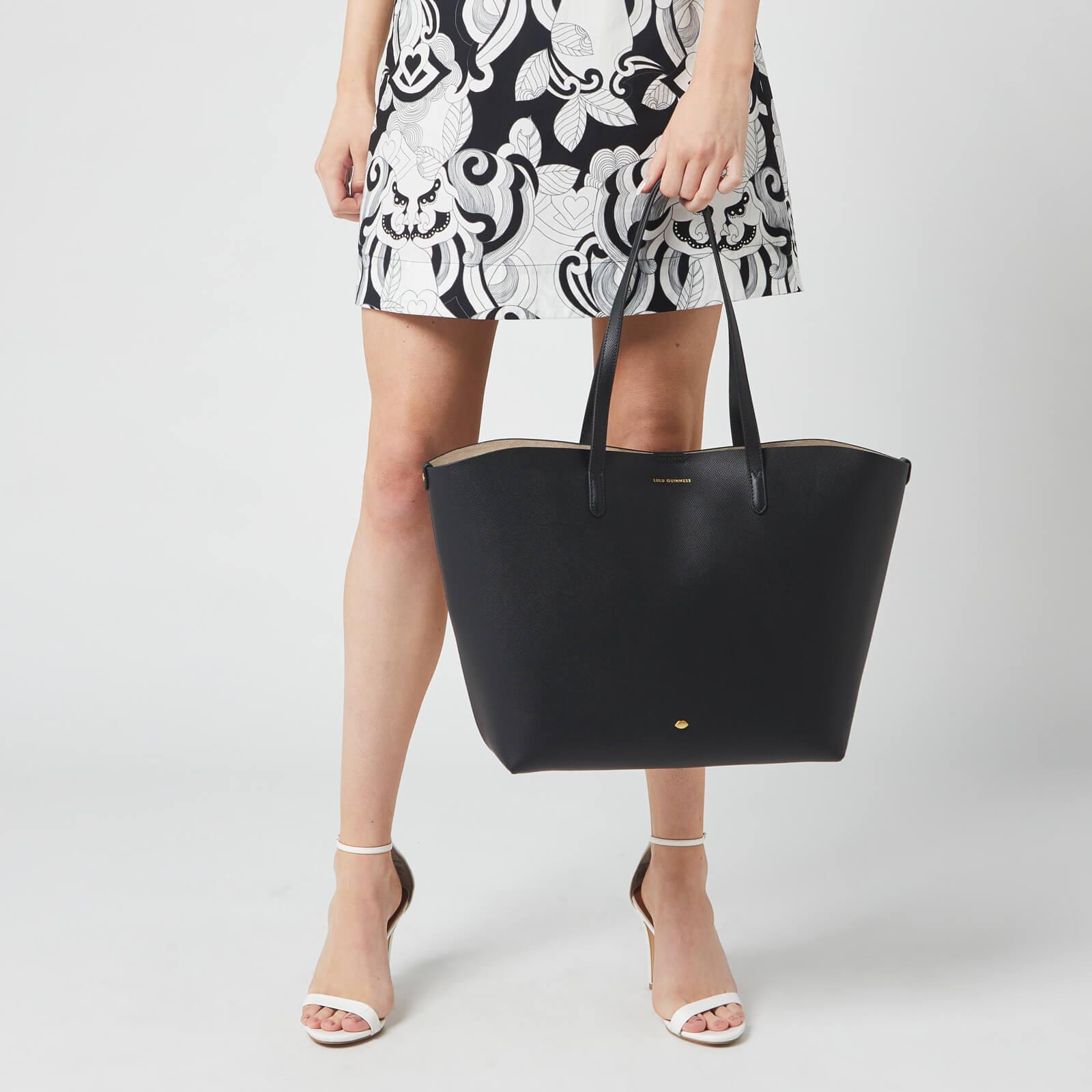 Lulu Guinness Women's Crossgrain Ivy Tote Bag - Black