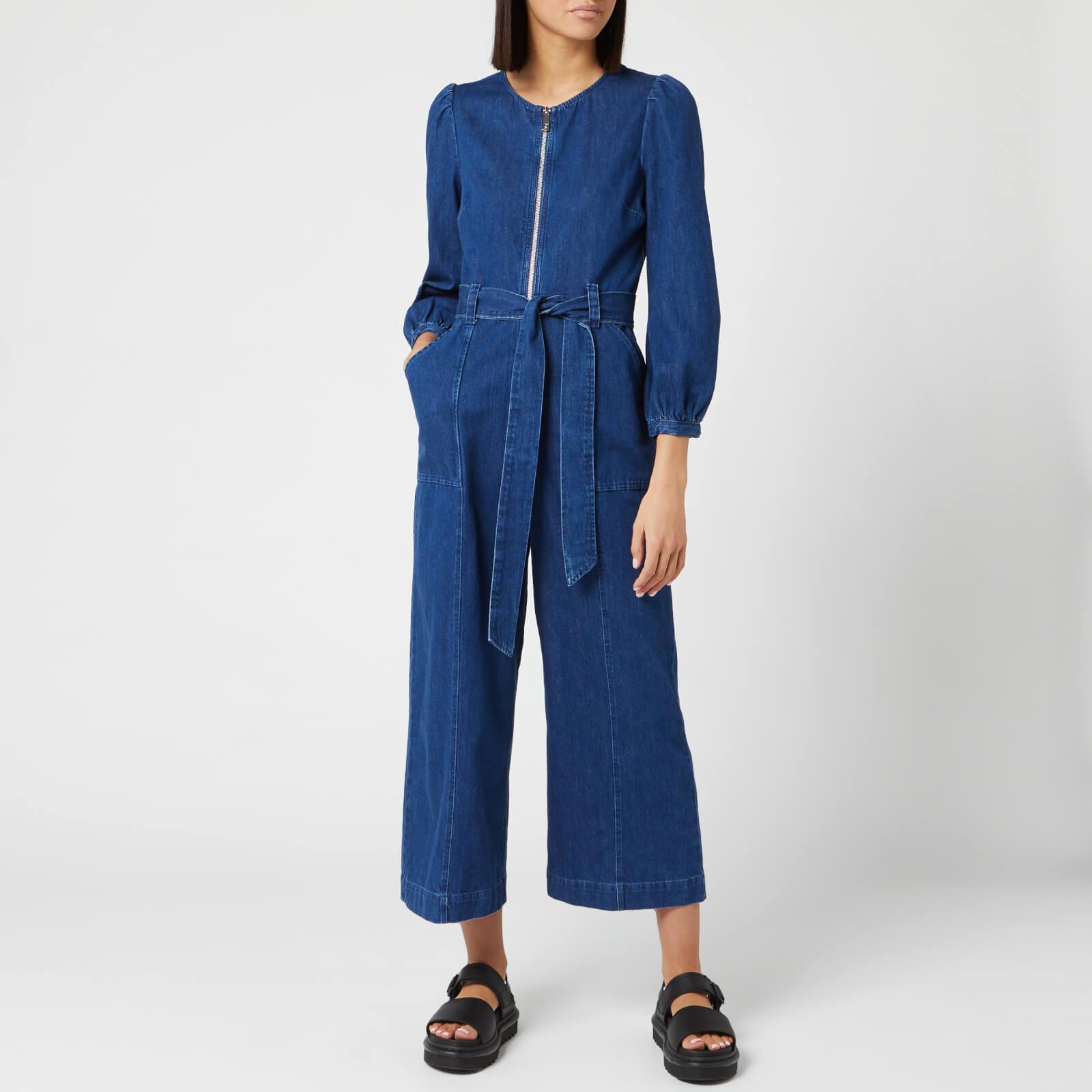 Whistles Women's Estelle Denim Jumpsuit - Blue - UK 14