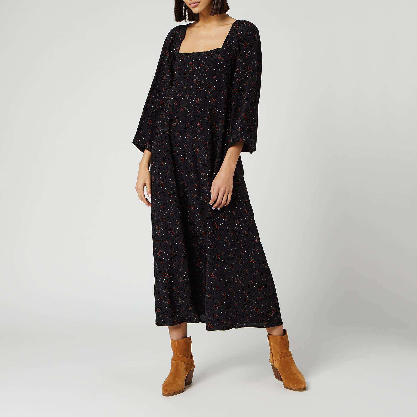Free People Women's Iris Midi Dress - Black - XS