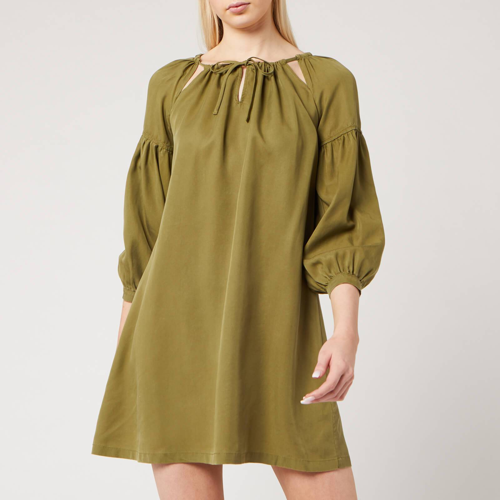 Superdry Women's Arizona Peek A Boo Dress - Capulet Olive - UK 16