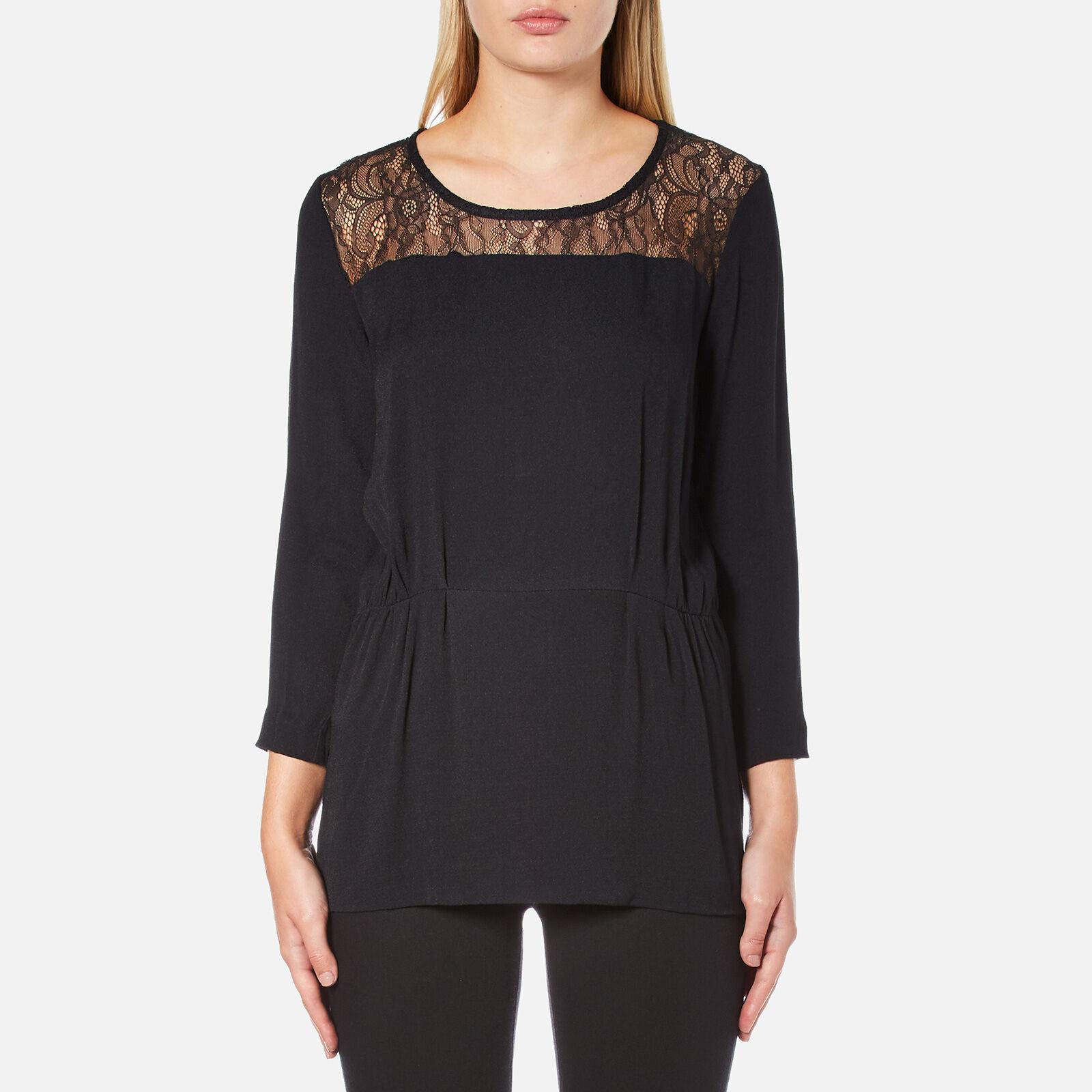 Selected Femme Women's Mussa Lace Top - Black - EU 34/UK 6 - Black