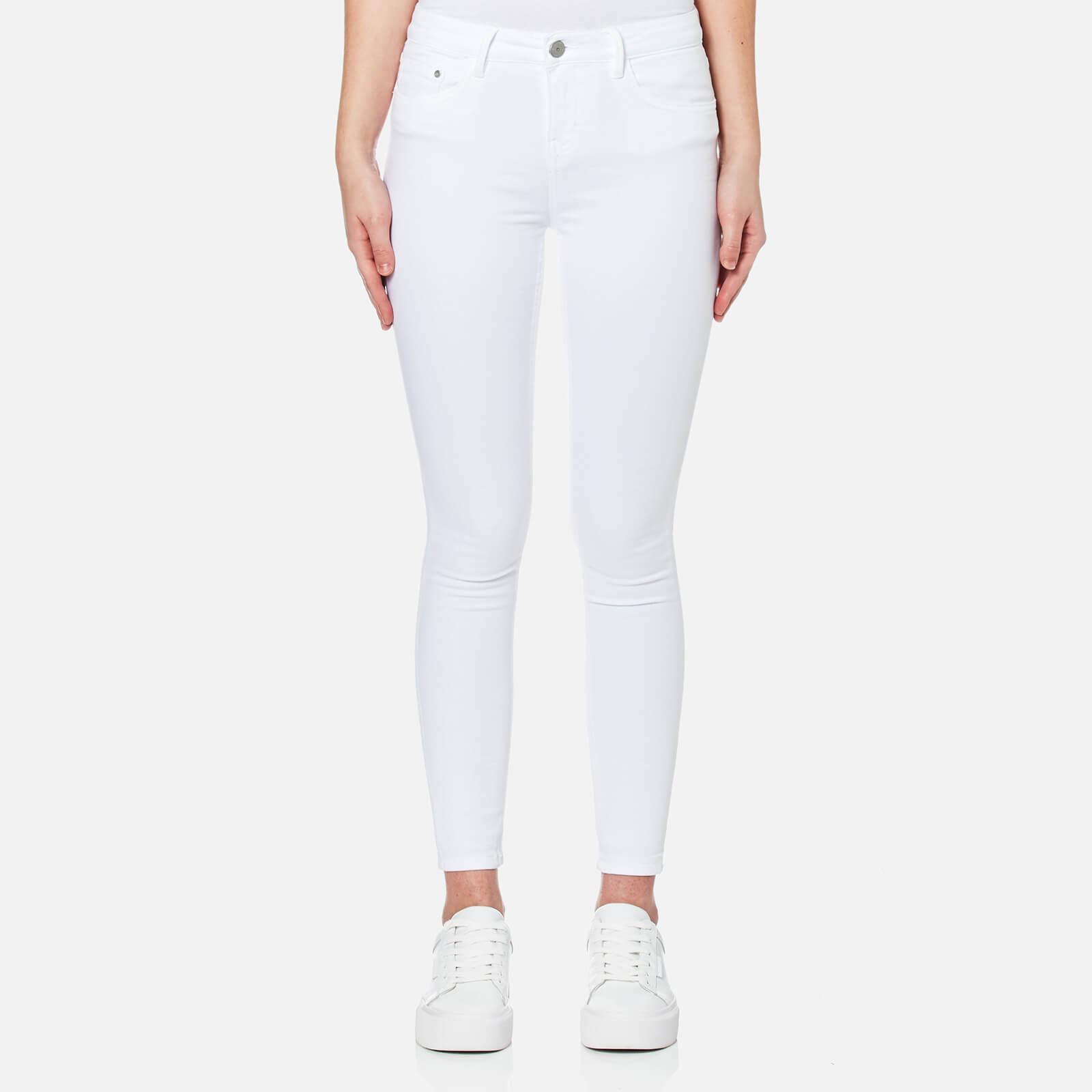 Waven Women's Freya Classic Skinny Ankle Grazer Jeans - White - UK 6 - White