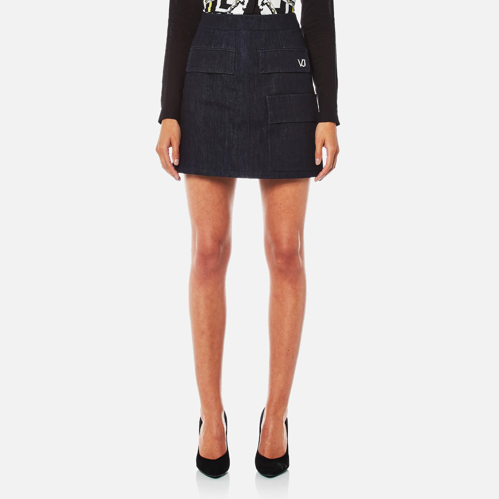 Versace Jeans Women's Skirt - Indigo - M - Blue