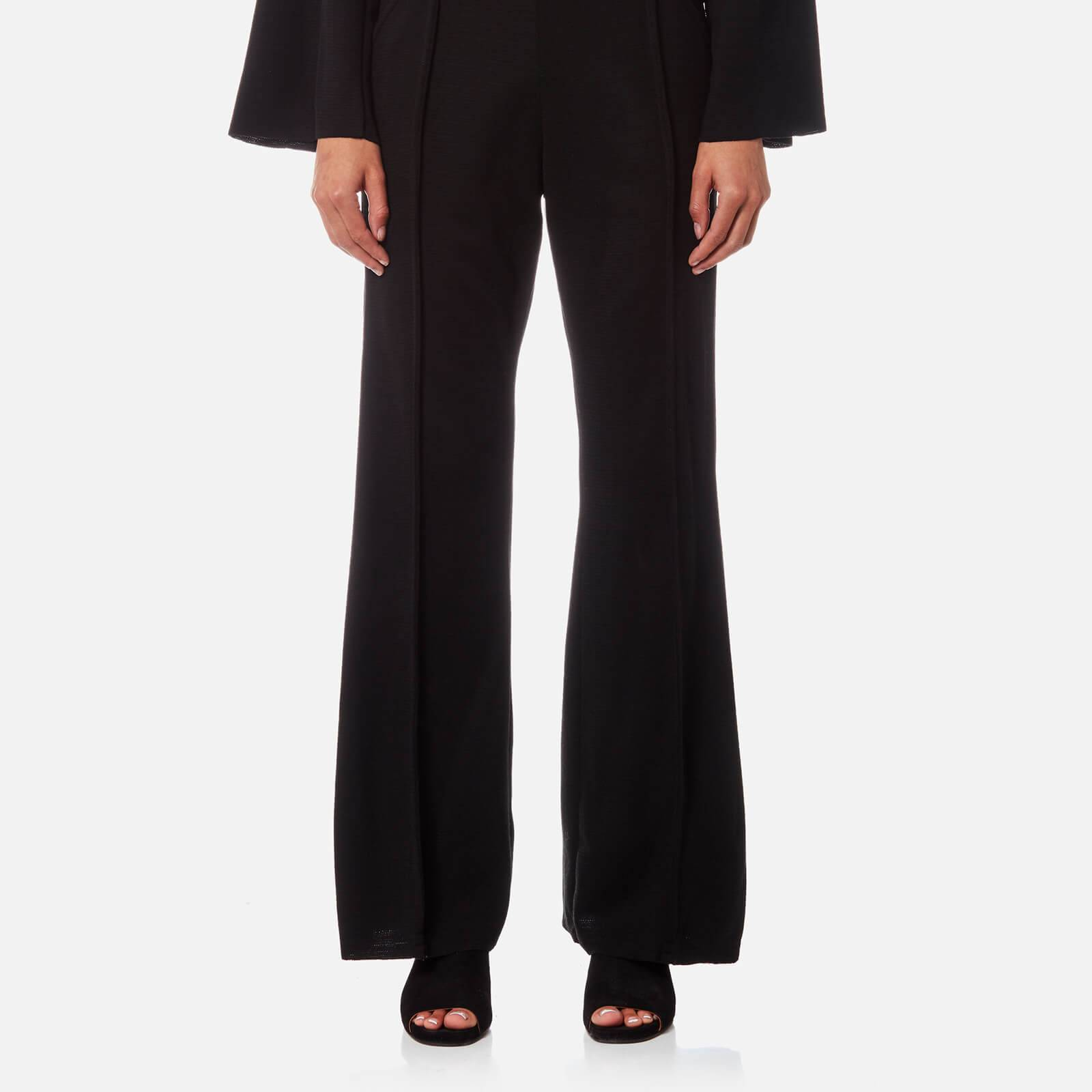 House of Sunny Women's Maxim Wide Legged Trousers - Supa Black - UK 8 - Black