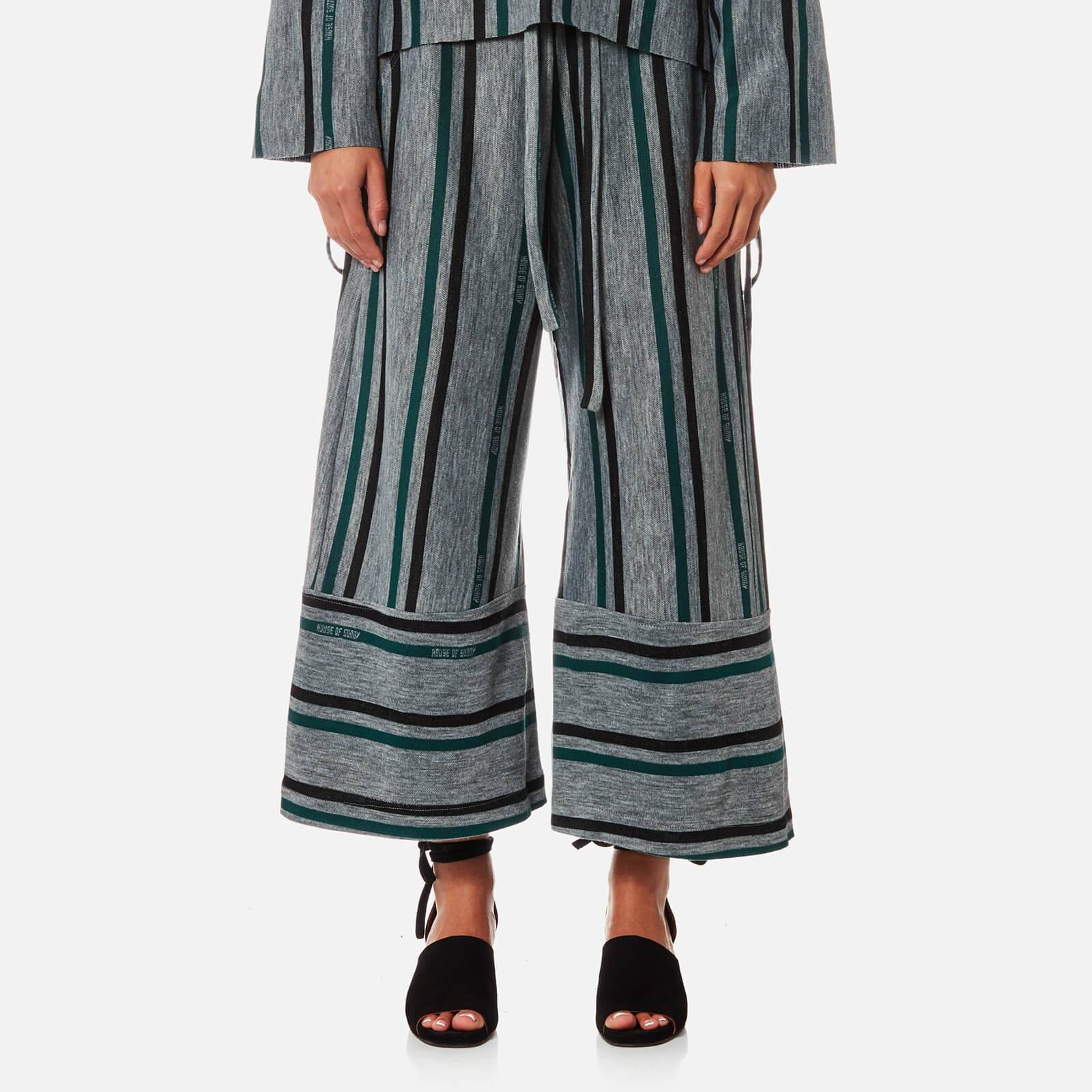House of Sunny Women's Fit and Flare Culottes - Striped - UK 8 - Multi