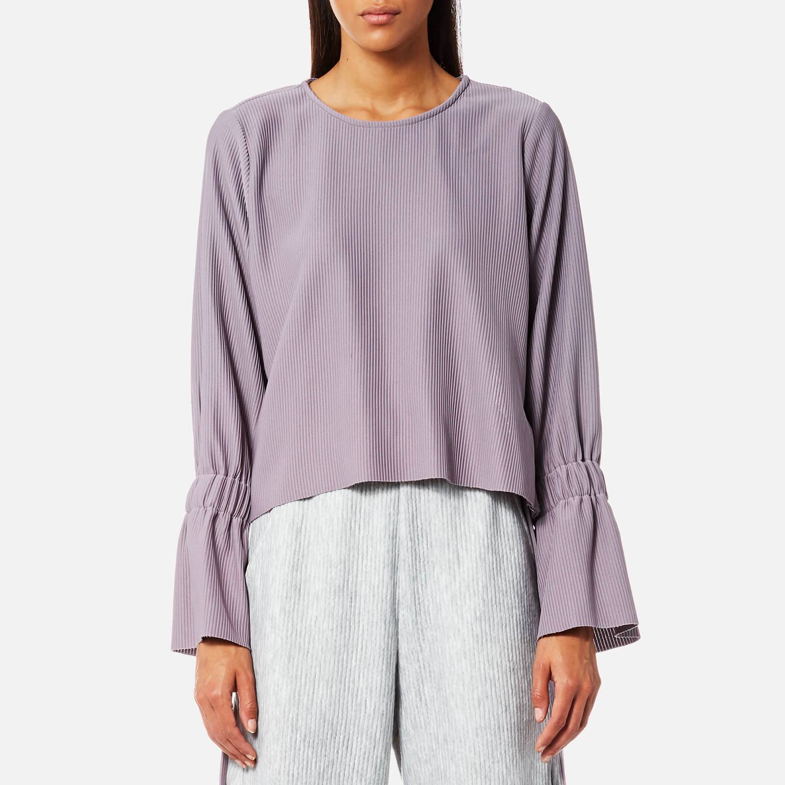 House of Sunny Women's Open Back Top with Flare Sleeves - Sweet Lilac - UK 10 - Purple