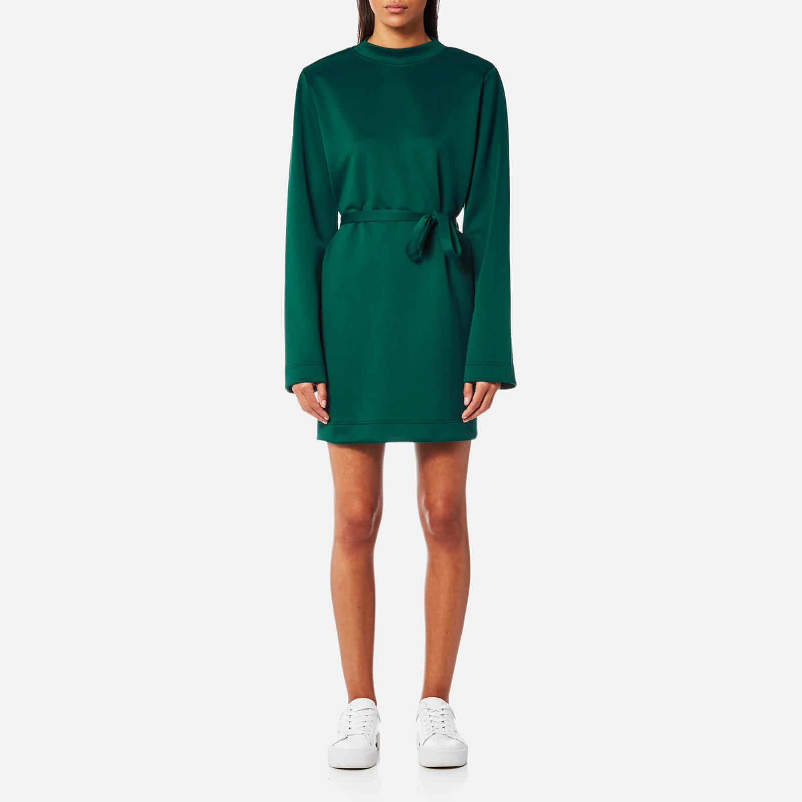 House of Sunny Women's Kicker T-Shirt Long Sleeve Dress - Organic Green - UK 8 - Green