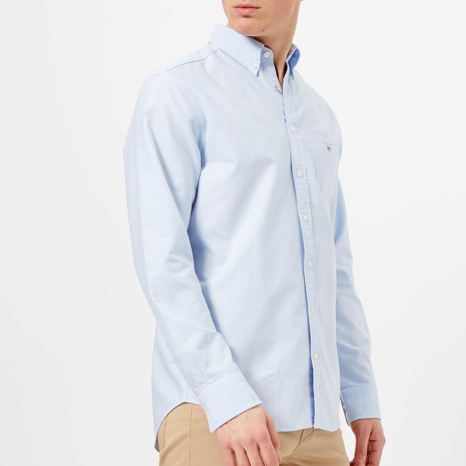 GANT Men's Oxford Long Sleeve Shirt - Capri Blue - M - Blue