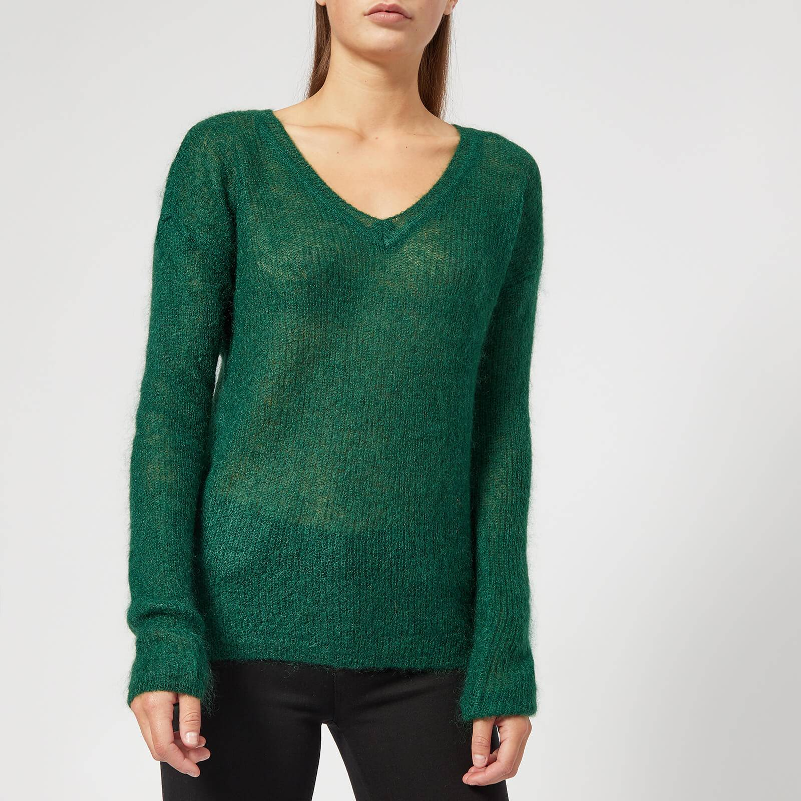 Gestuz Women's Molly V Neck Pullover - Botanical Garden - XS - Green