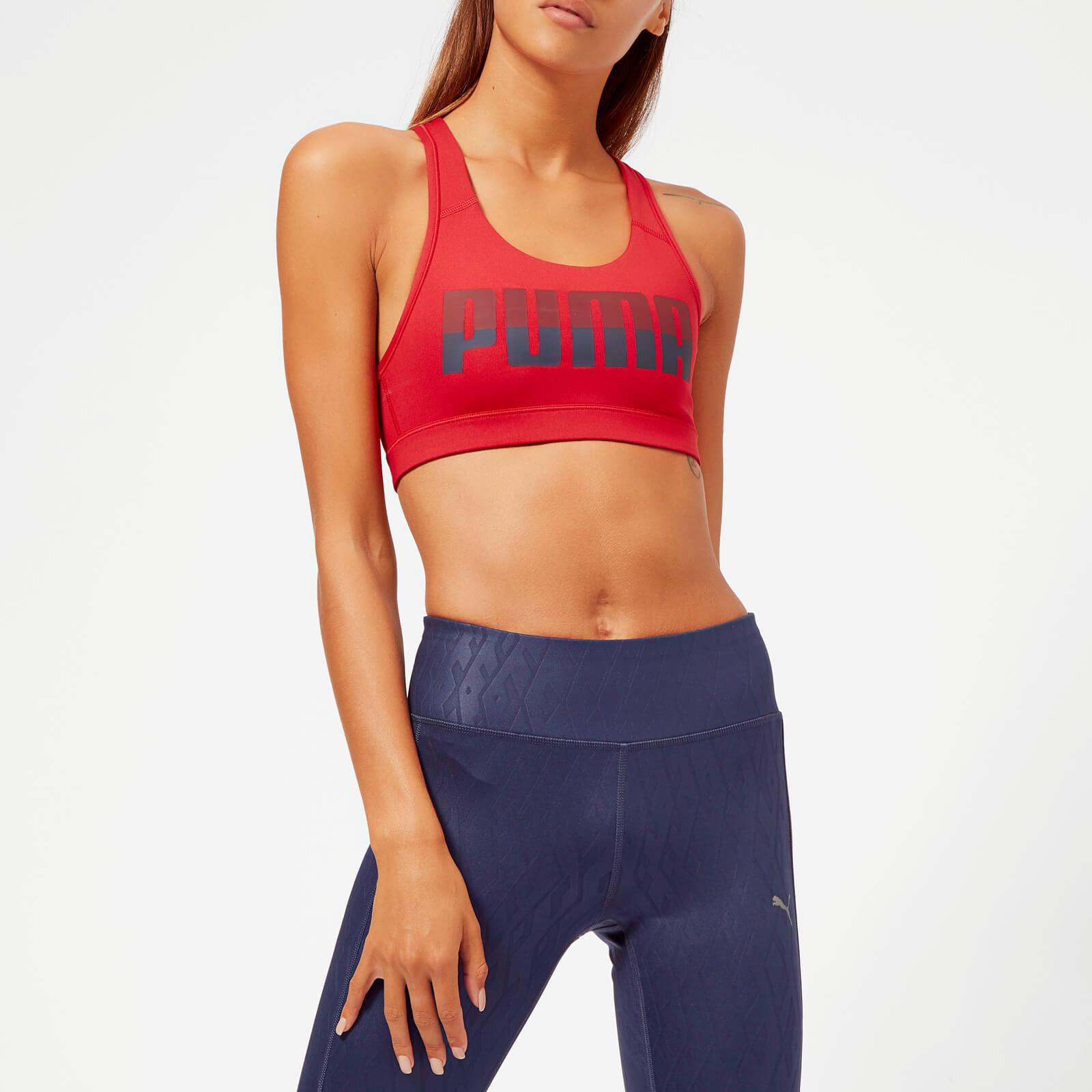 Puma Women's 4 Keeps Sports Bra - Ribbon Red - XXS/UK 6 - Red