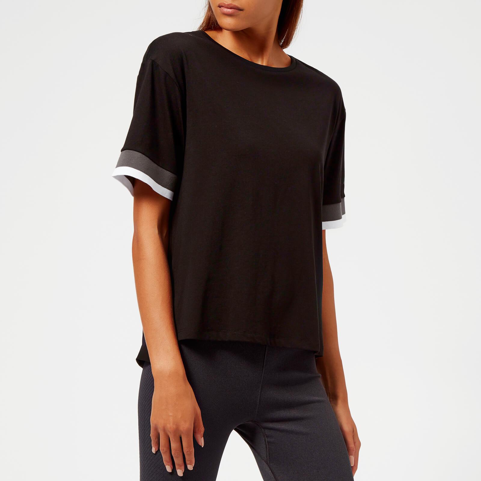 Asics Women's Mix Fabric Short Sleeve Top - Performance Black - M - Black