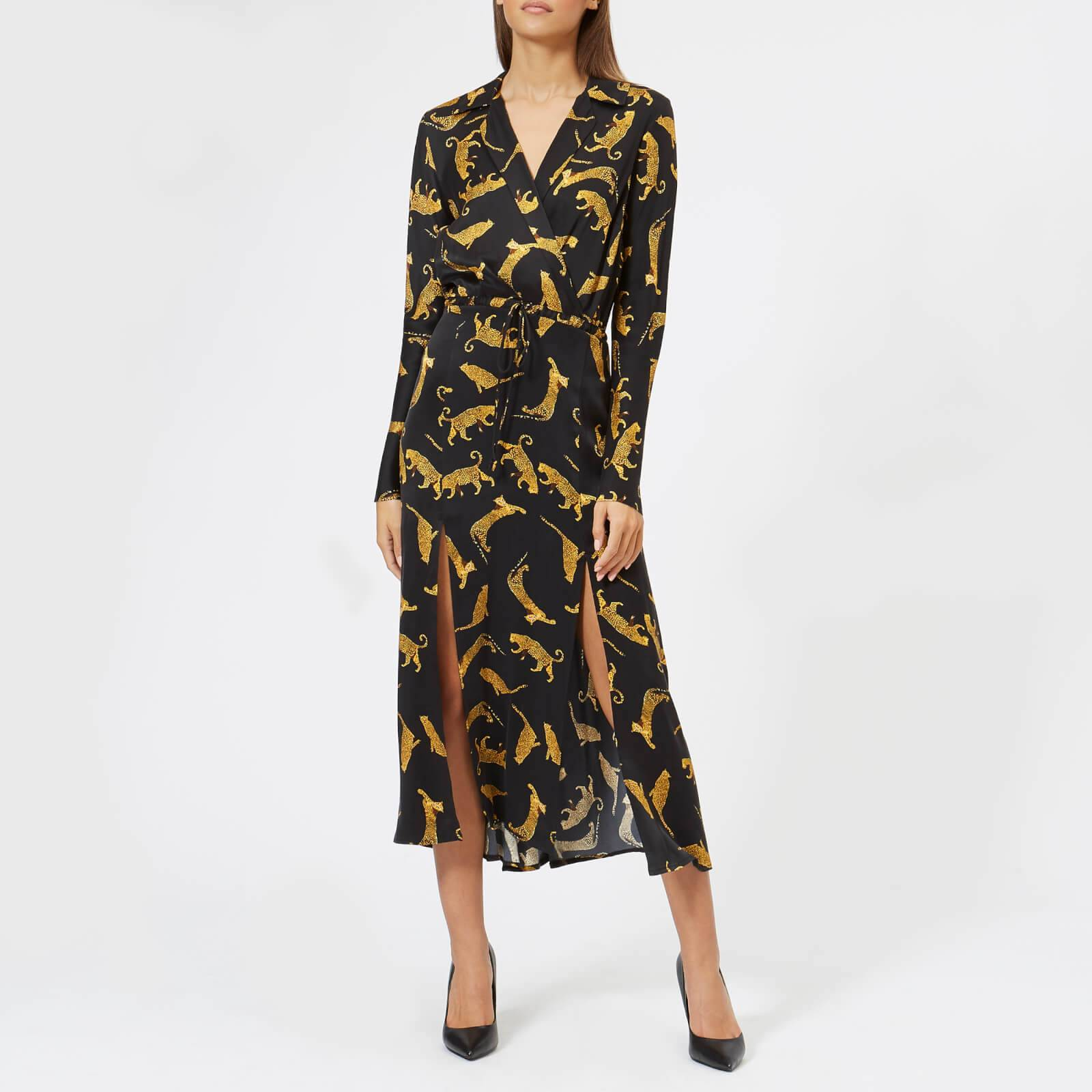 Bec & Bridge Women's Conga Beat Long Sleeve Dress - Cheetah - UK 6 - Multi