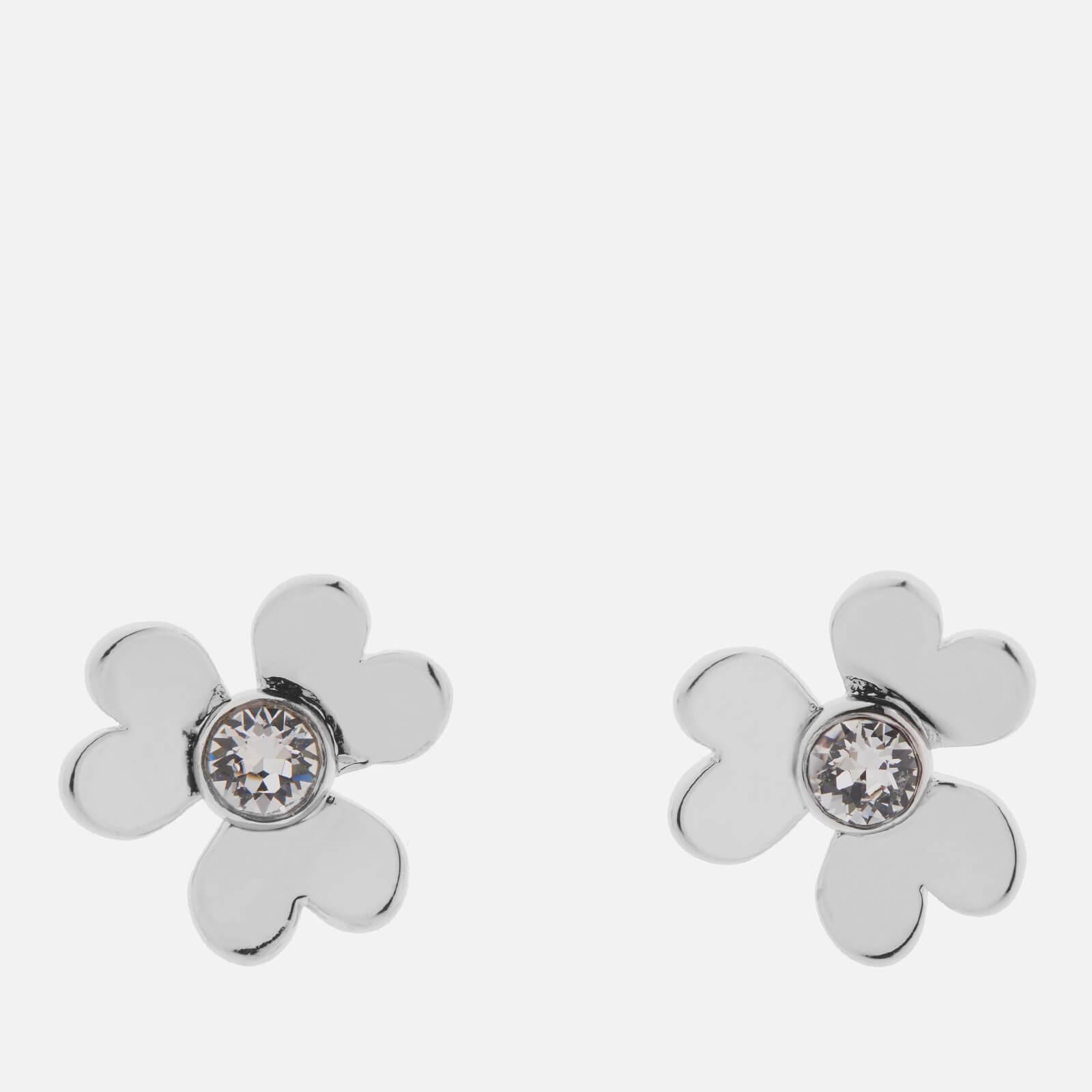 Ted Baker Women's Hansila: Heart Blossom Stud Earrings - Silver/Crystal