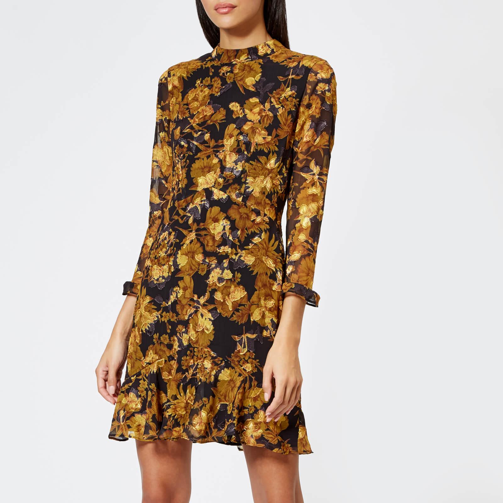 Whistles Women's Mackintosh Print Eleanor Dress - Yellow/Multi - UK 12 - Yellow