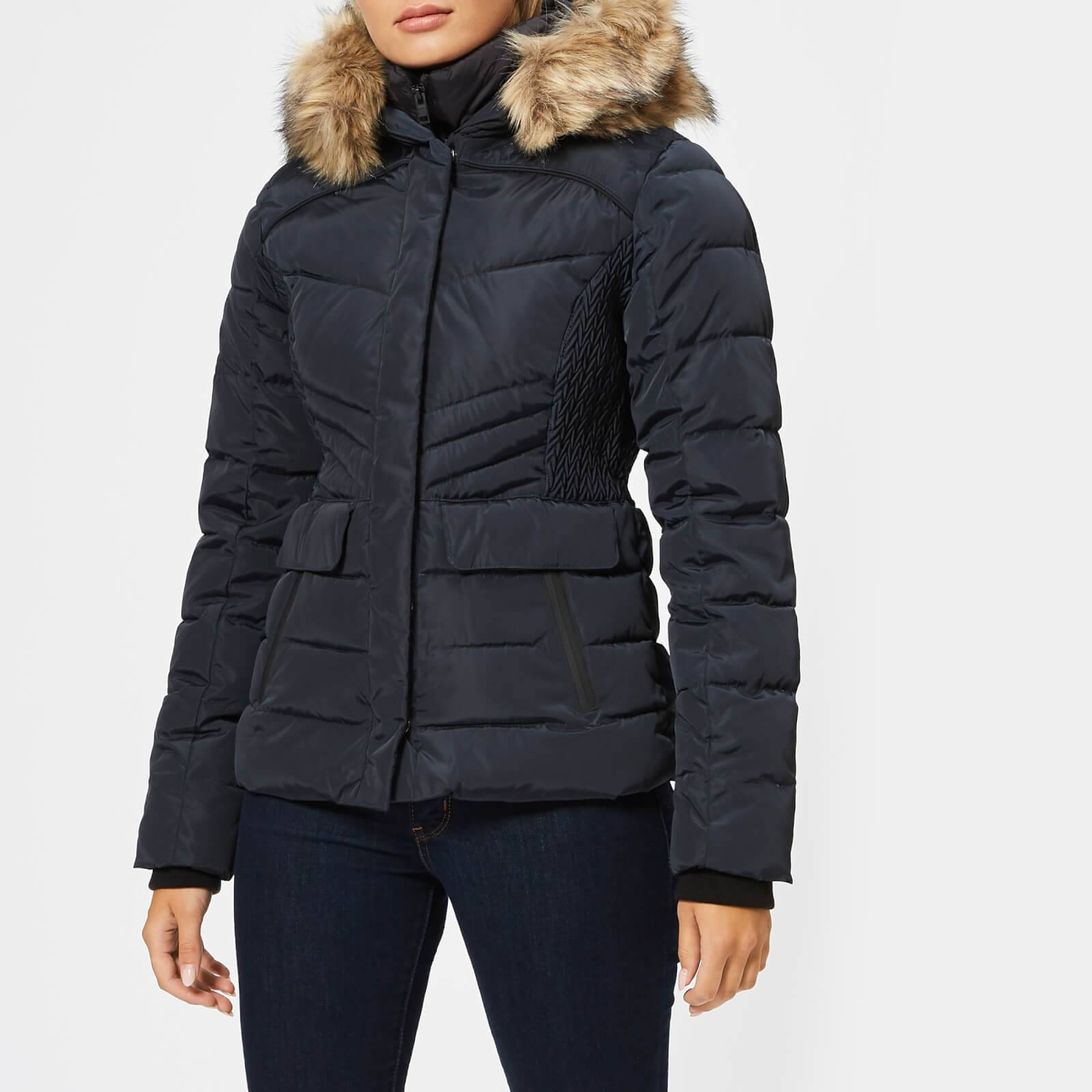 Superdry Women's Glacier Biker Jacket - Luxe Navy - UK 14 - Blue