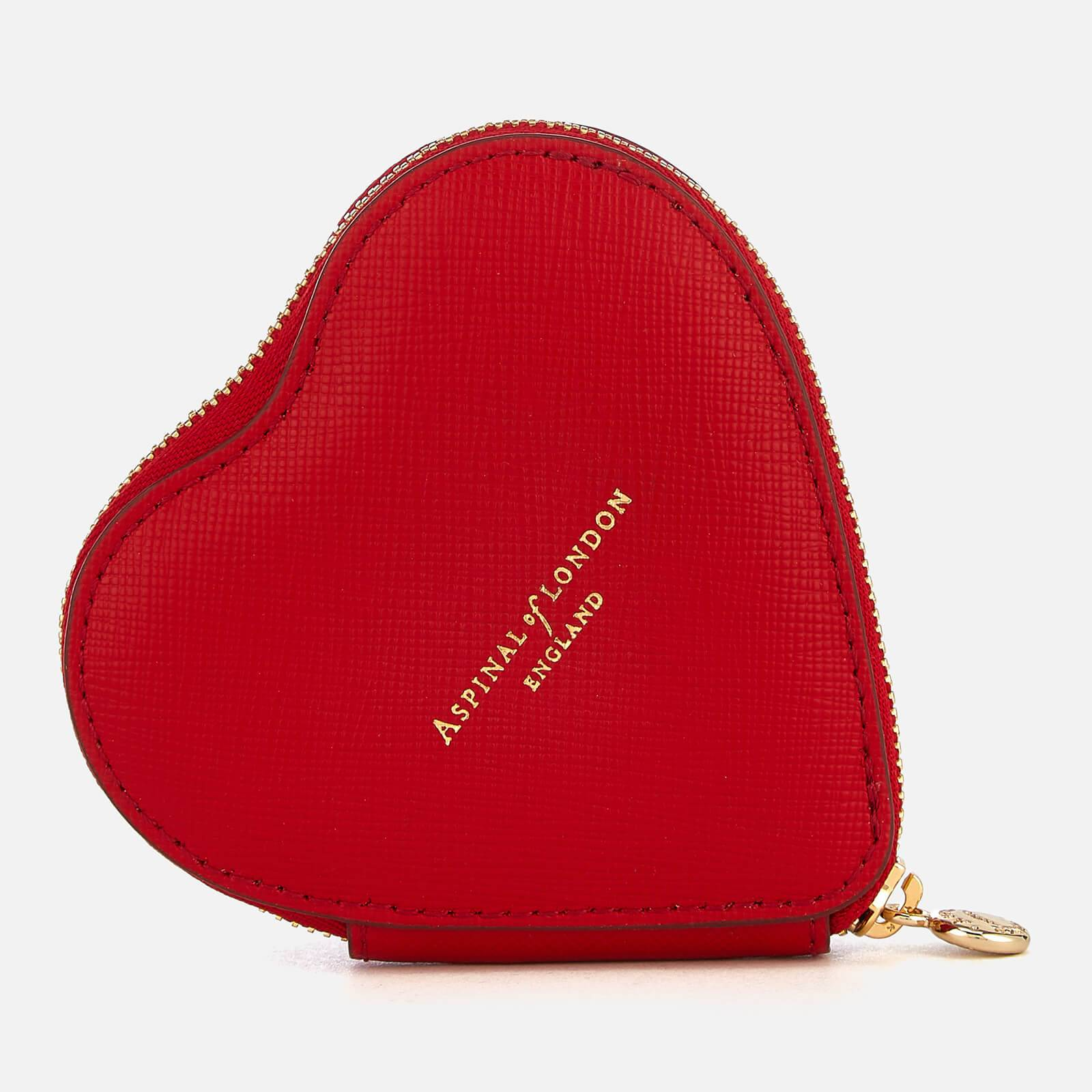 Aspinal of London Women's Heart Coin Purse - Scarlet
