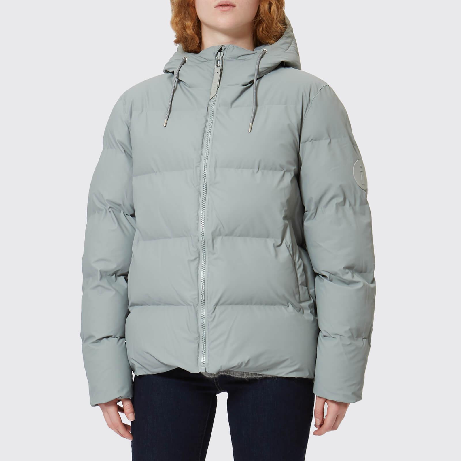 RAINS Women's Puffa Jacket - Stone - M-L - Grey