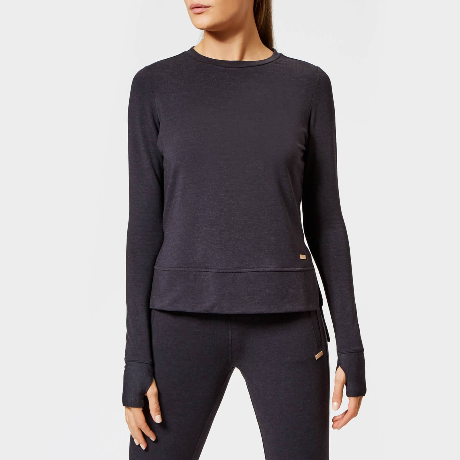 Superdry Sport Women's Active Studio Luxe Crew Neck Sweatshirt - Black Marl - UK 14 - Black