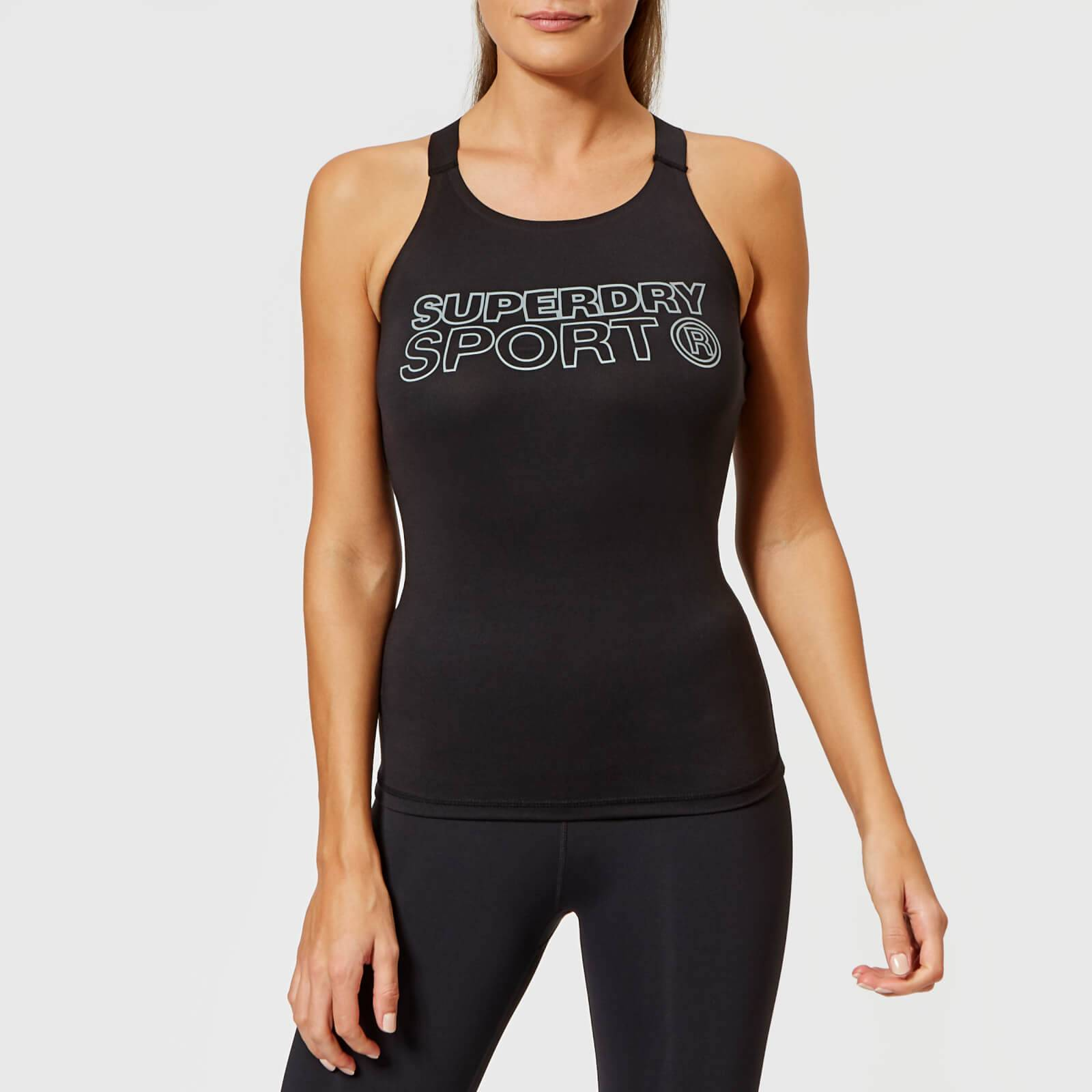 Superdry Sport Women's Active Fitted Vest - Black - UK 6 - Black