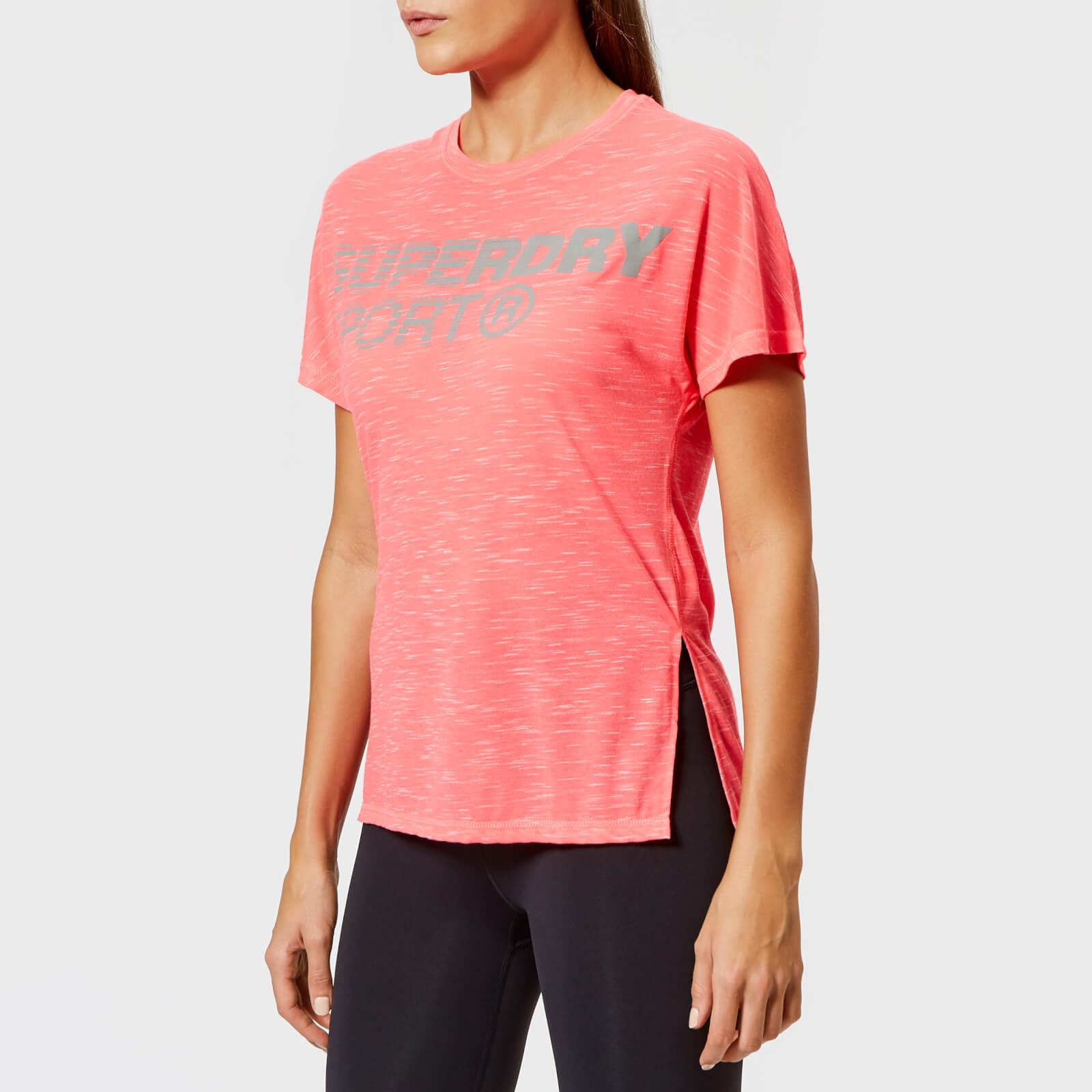 Superdry Sport Women's Core Loose T-Shirt - Fusion Pink - UK 12 - Pink