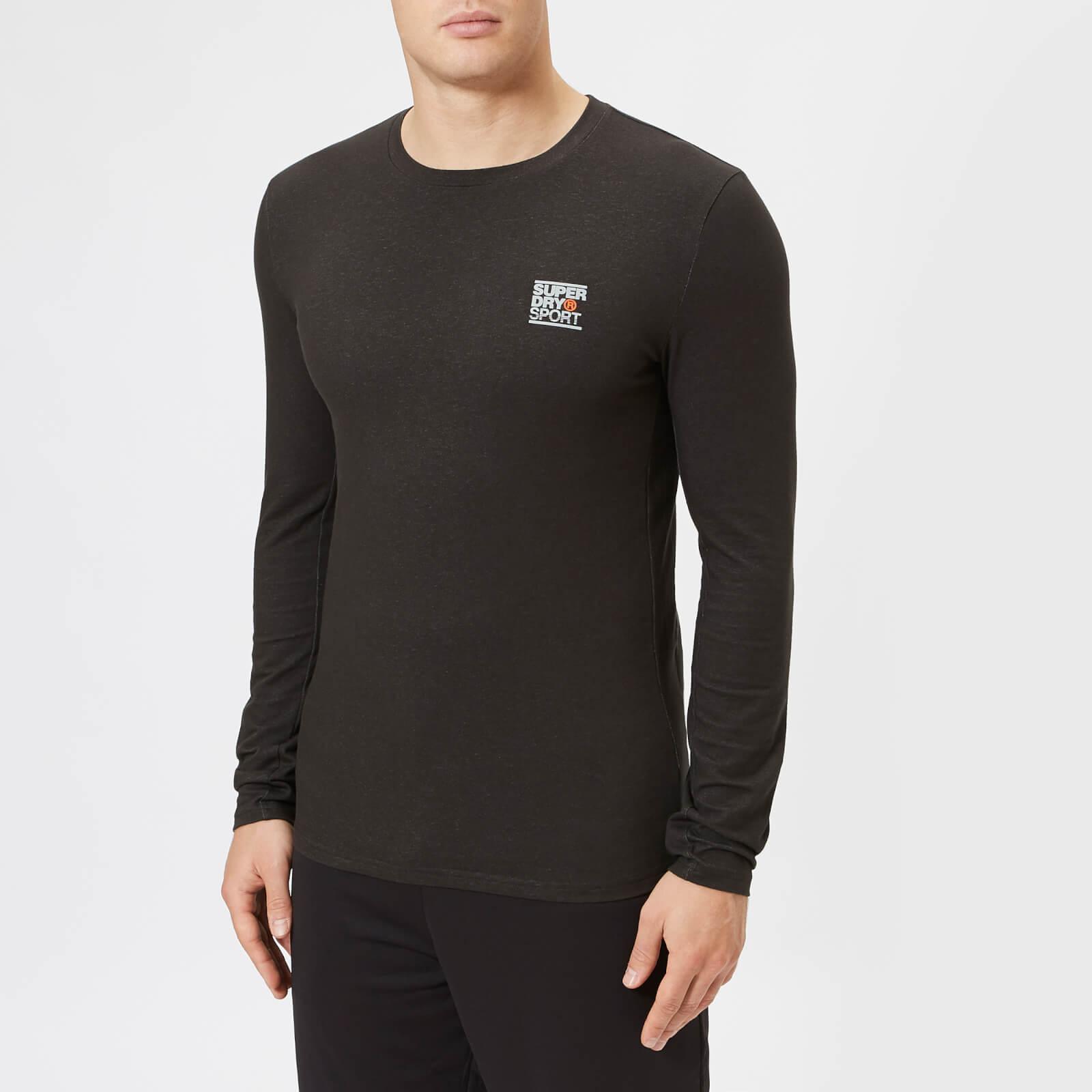 Superdry Sport Men's Core Long Sleeve Sign Off T-Shirt - Black - L - Black