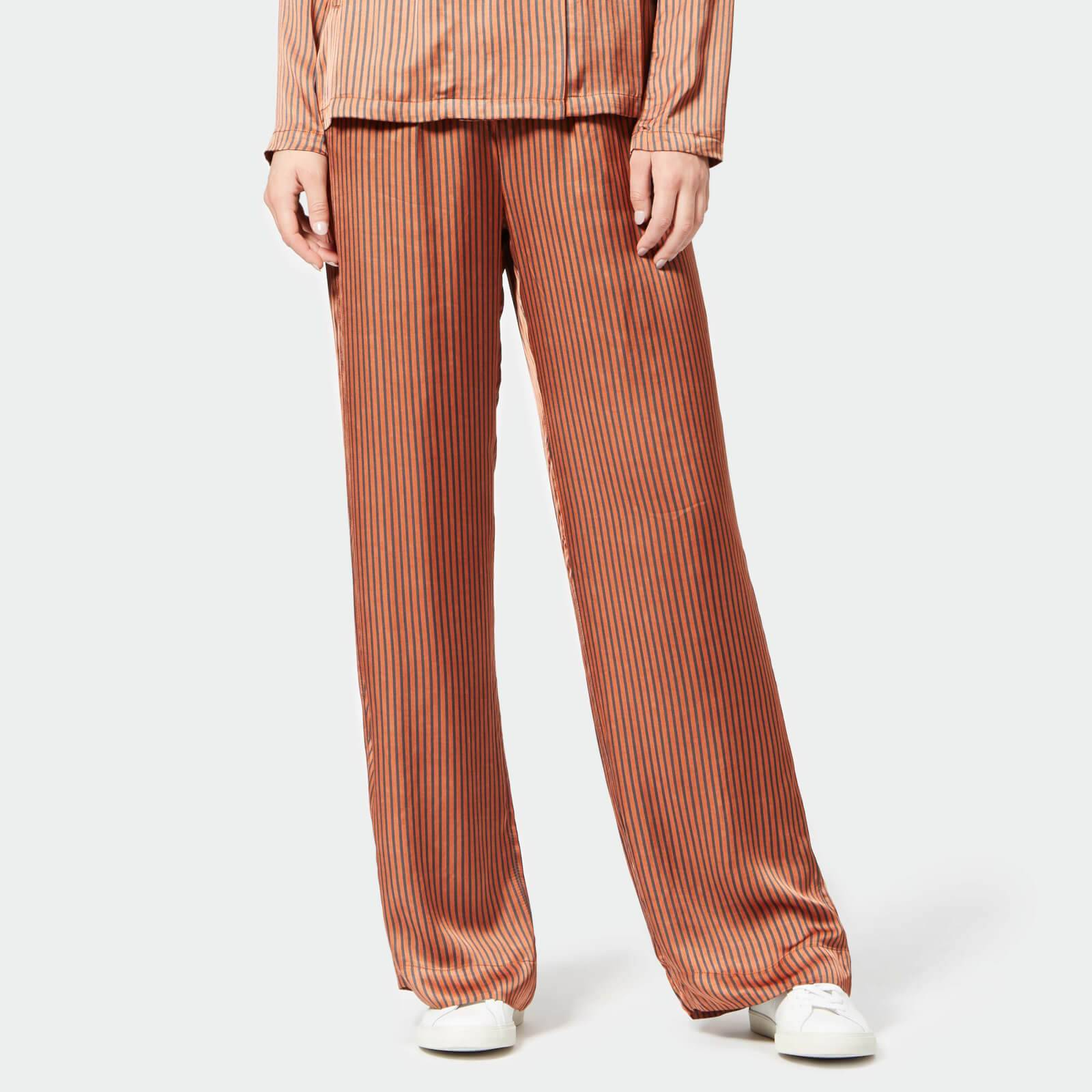 Gestuz Women's Veronica Pants - Ginger Stripe - EU 38/UK 10 - Beige