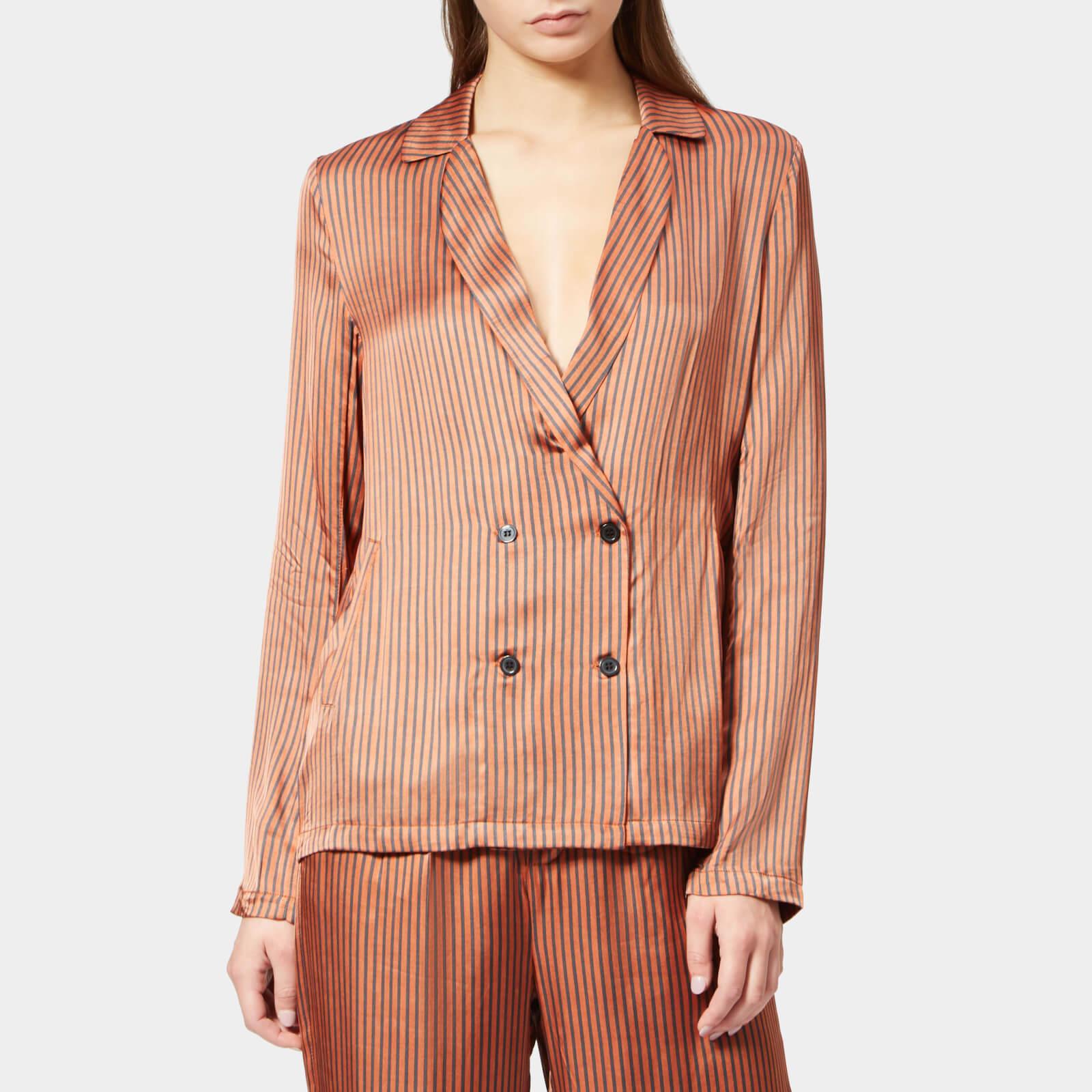 Gestuz Women's Veronica Shirt - Ginger Stripe - EU 36/UK 8 - Beige