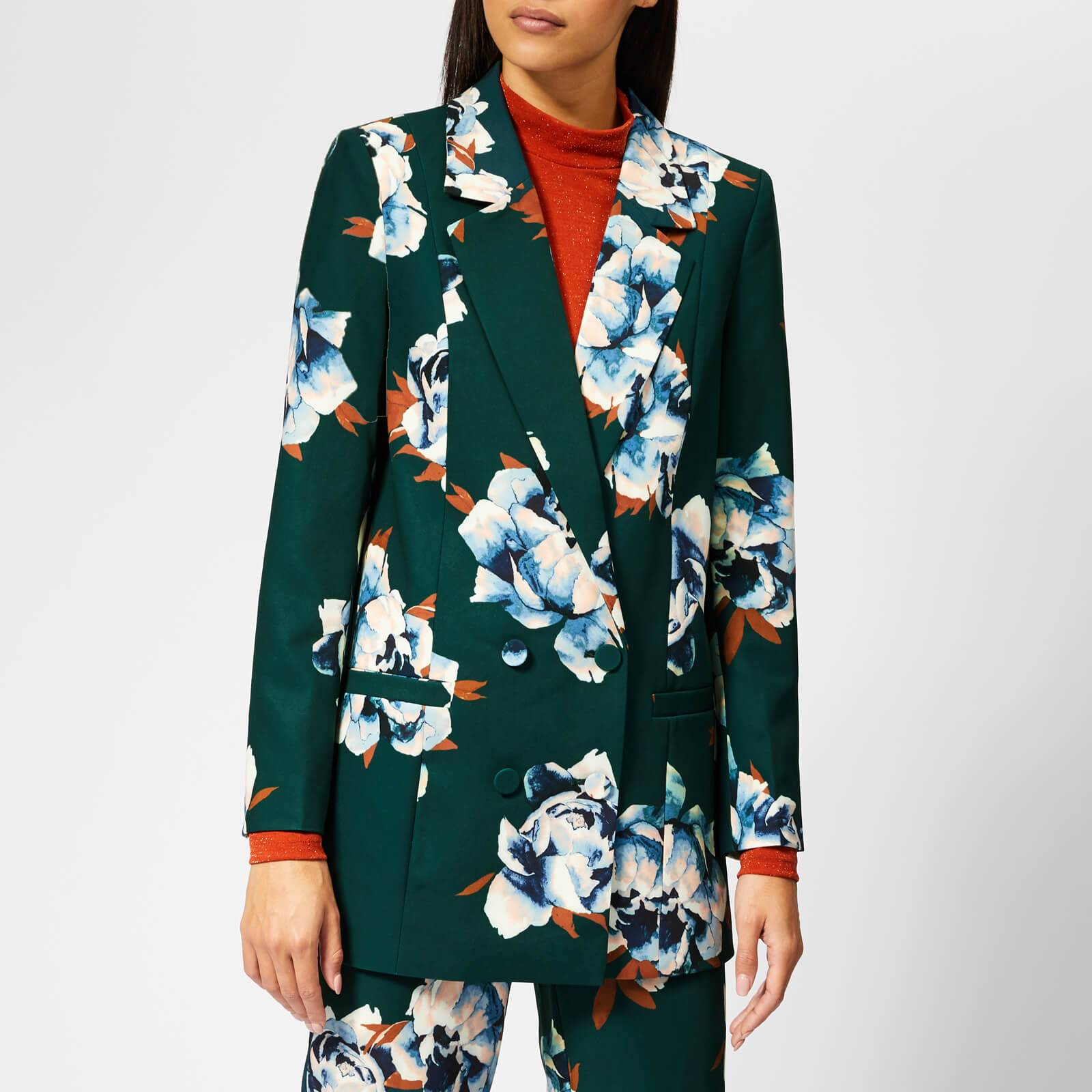 Gestuz Women's Fala Blazer - Deep Pine Flower - EU 36/UK 8 - Multi