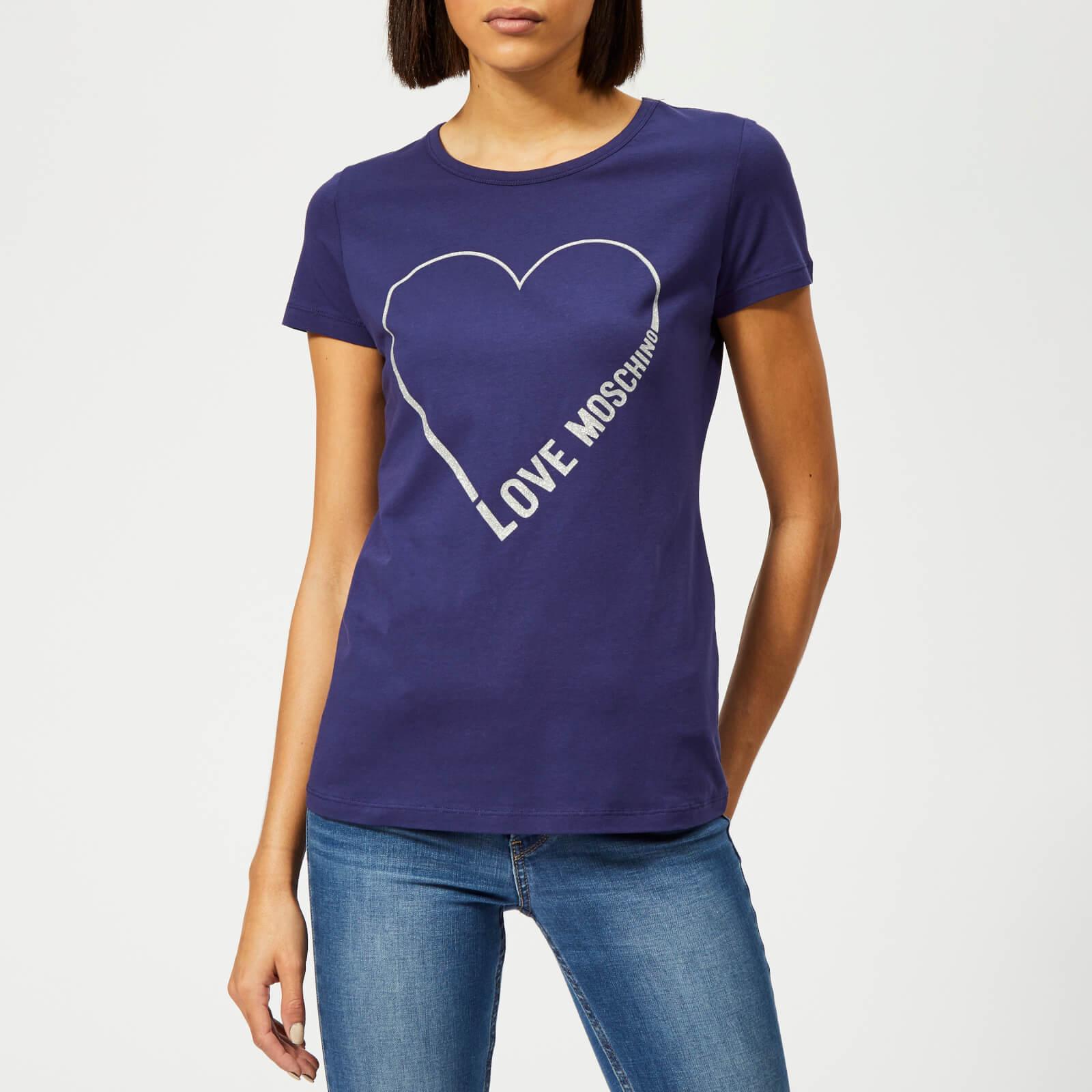 Moschino Love Moschino Women's Logo Core T-Shirt - Electric Blue - IT 42/UK 10 - Blue