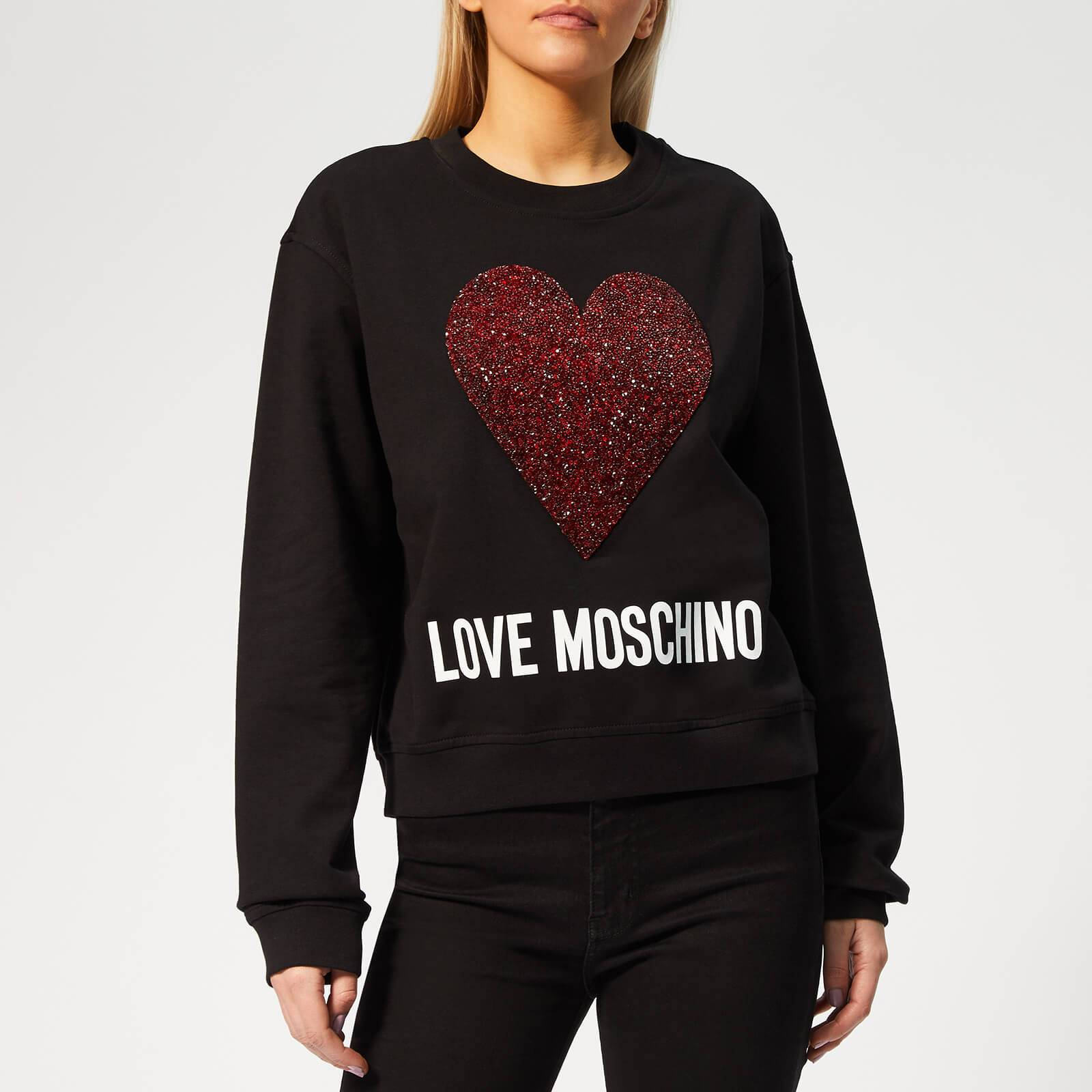 Moschino Love Moschino Women's Heart Logo Sweater - Black - IT 42/UK 10 - Black