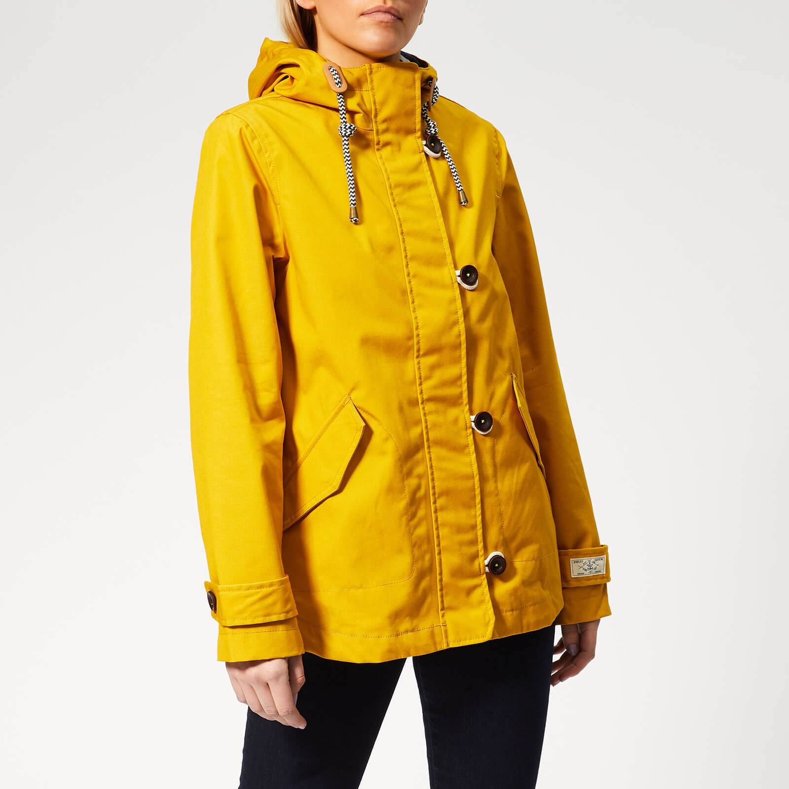 Joules Women's Coast Waterproof Jacket - Antique Gold - UK 14