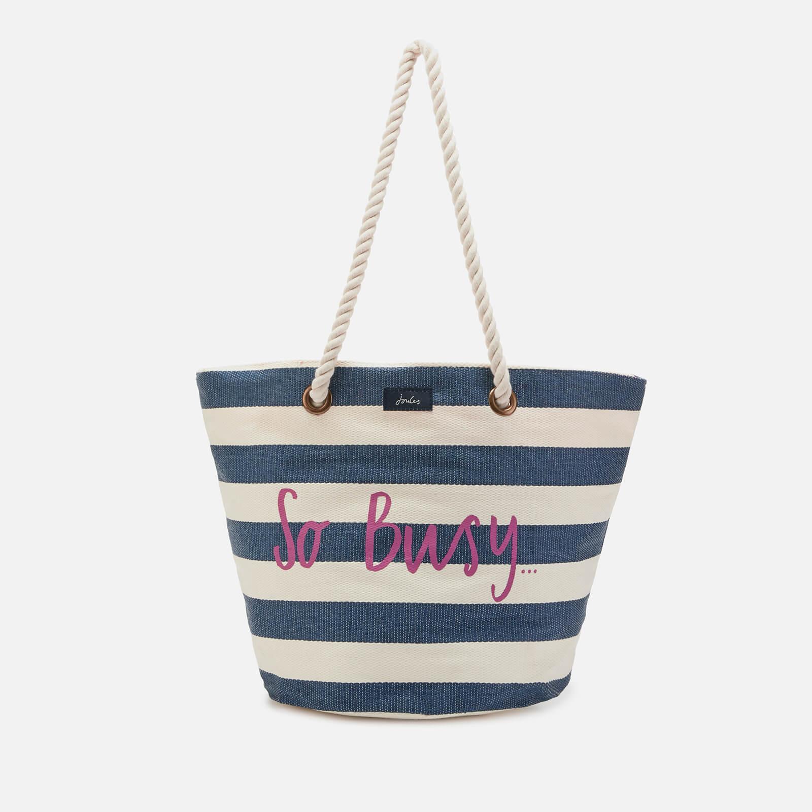 Joules Women's Seaside Summer Bag - Cream Stripe So Busy