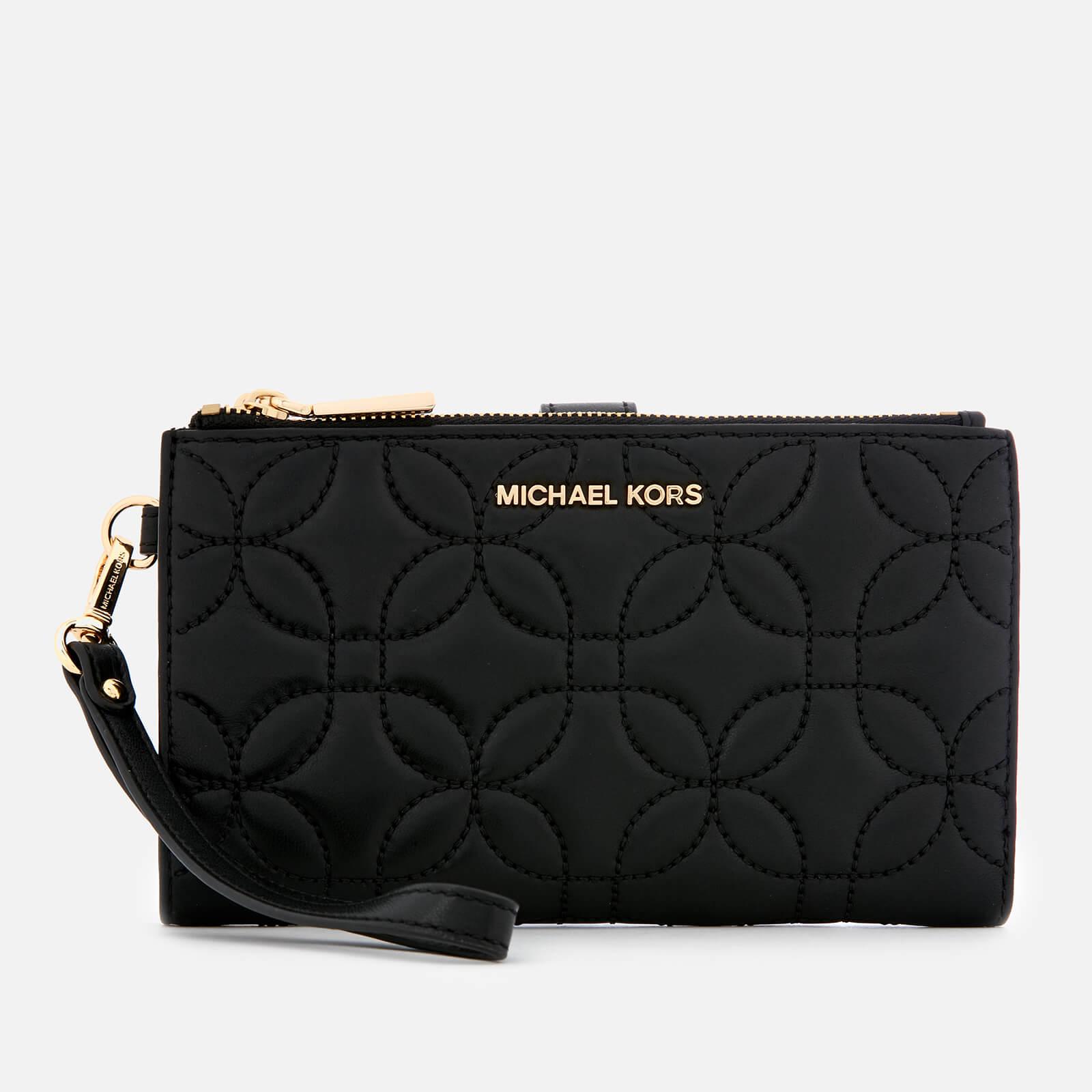MICHAEL MICHAEL KORS Women's Double Zip Wristlet - Black Fluro