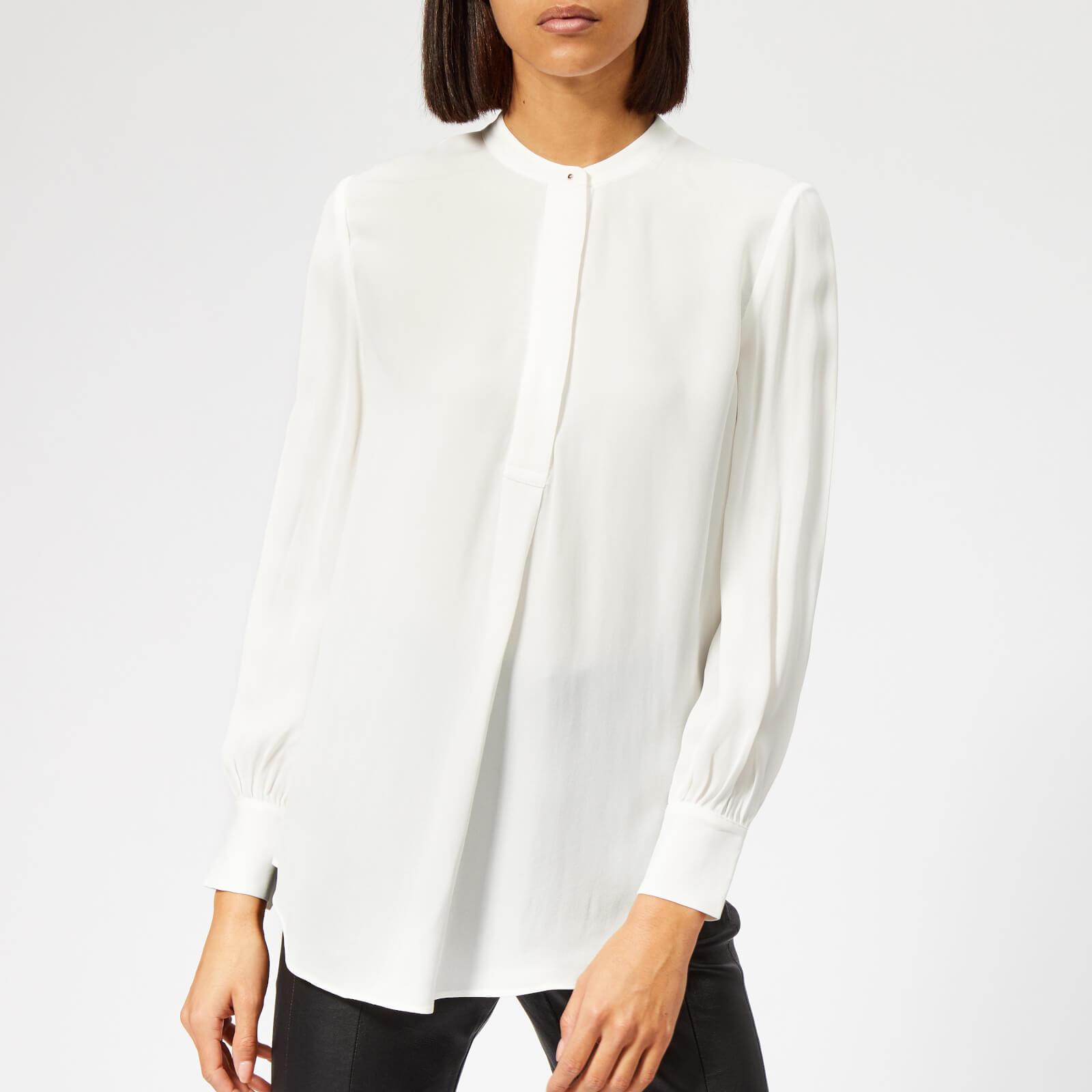 Whistles Women's Stud Pleat Blouse - Ivory - UK 6 - Cream