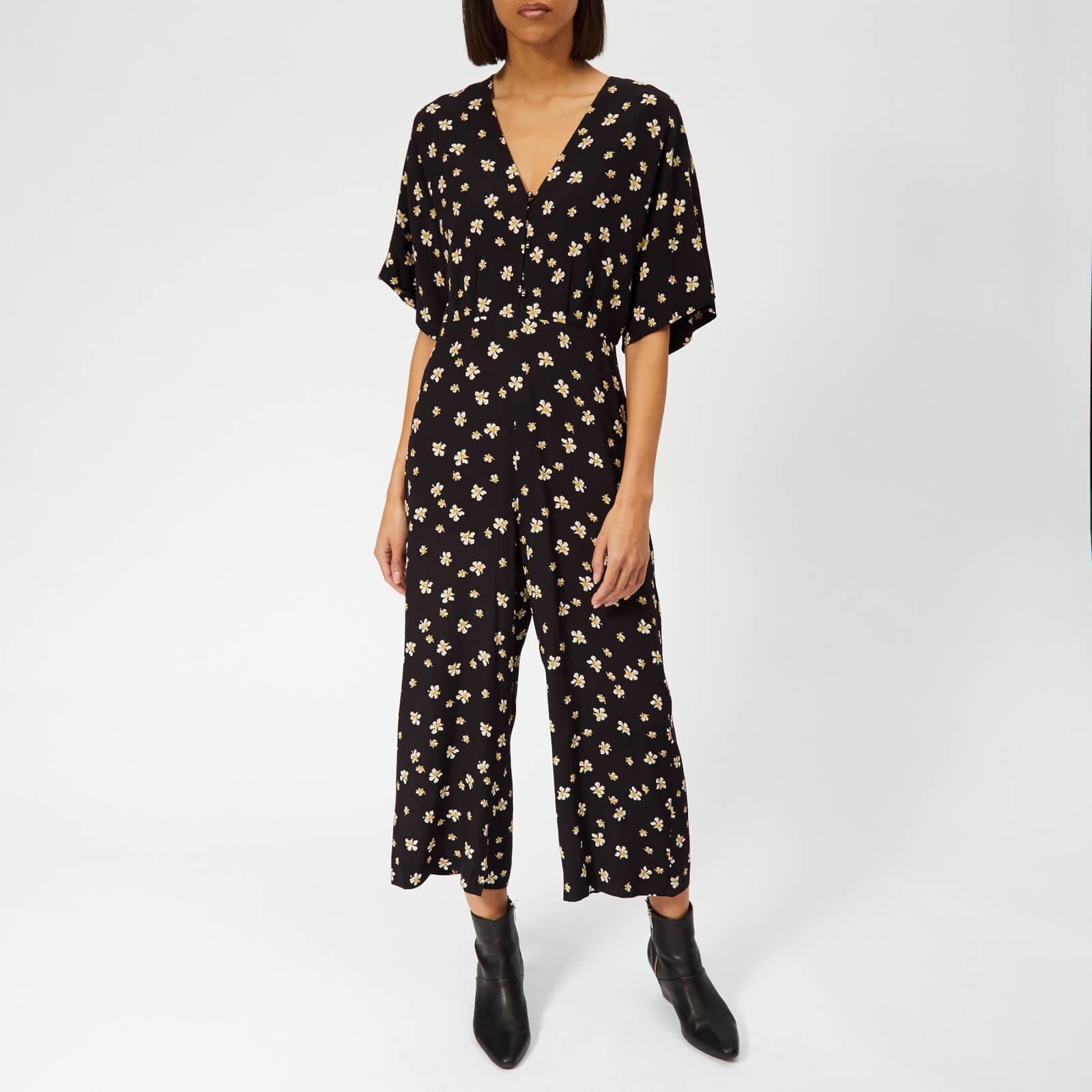 Whistles Women's Edelweiss Print Button Jumpsuit - Black/Multi - UK 8 - Black